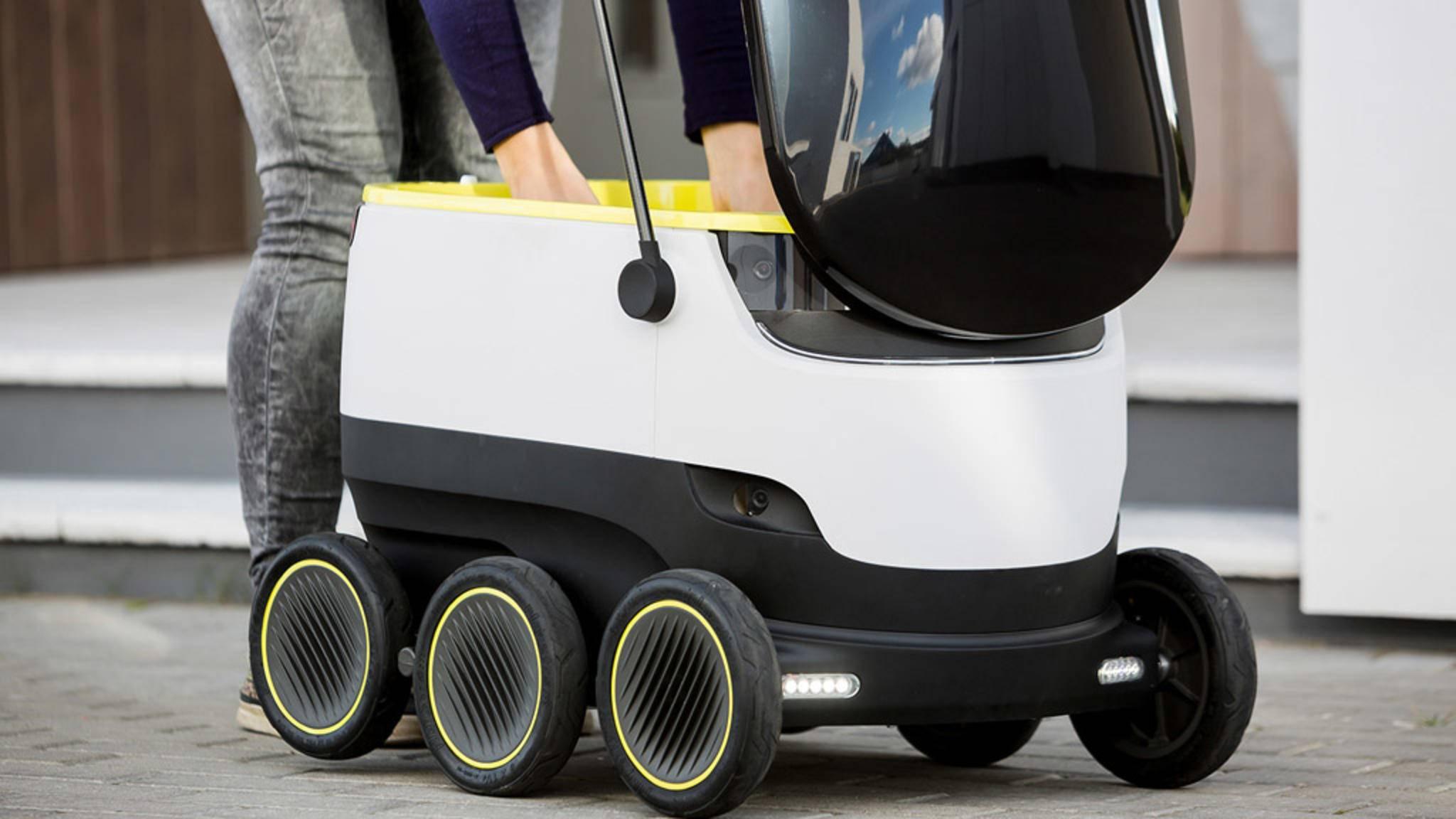 Pizza auf Rädern: So sehen die neuen Lieferroboter von Domino's aus.