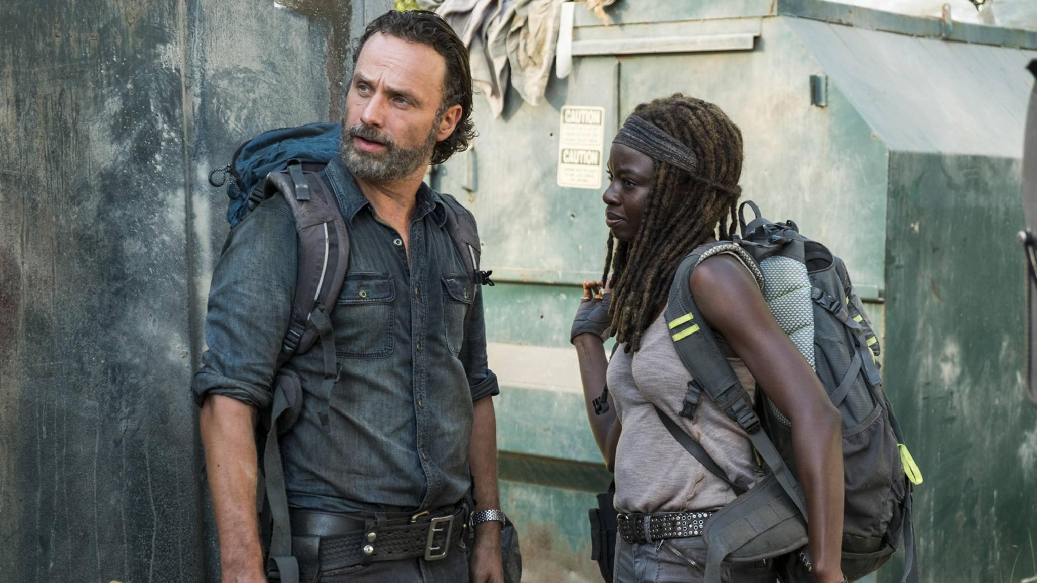 """Was erwartet Rick und Michonne in der zwölften """"The Walking Dead""""-Folge wohl hinter dem Zaun?"""