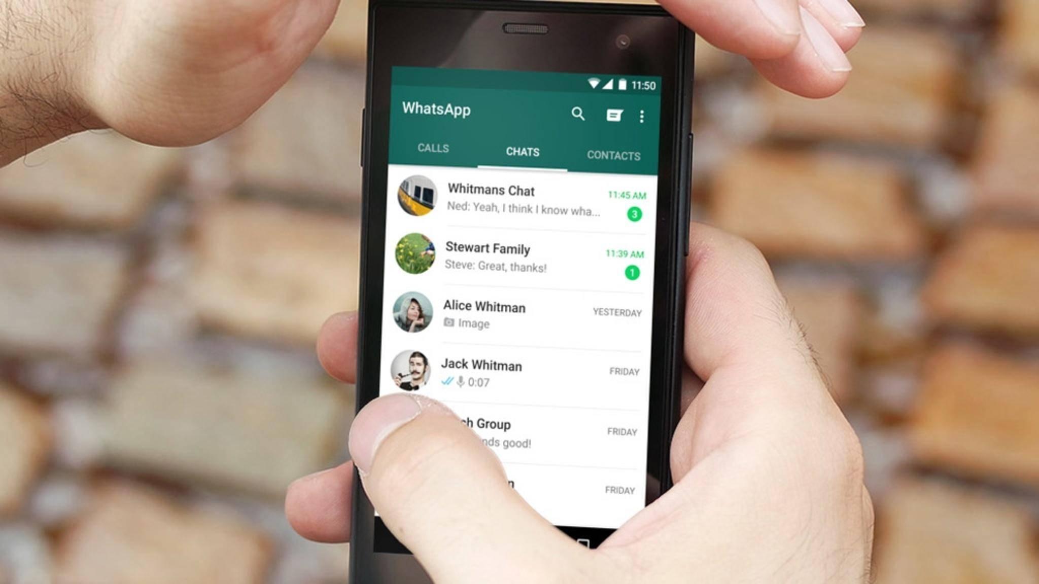 In WhatsApp kannst Du jetzt auch Deine Account-Infos anfordern.
