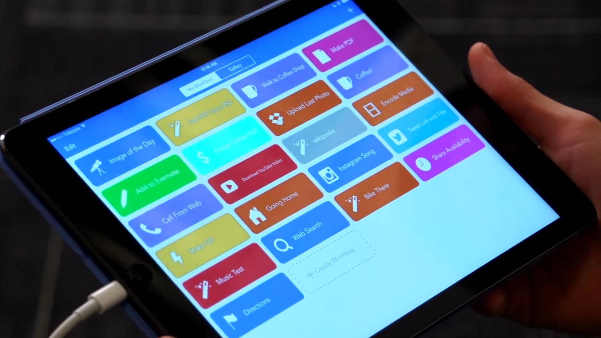 Apple hat die Automatisierungs-App Workflow für iPhones und iPads gekauft.
