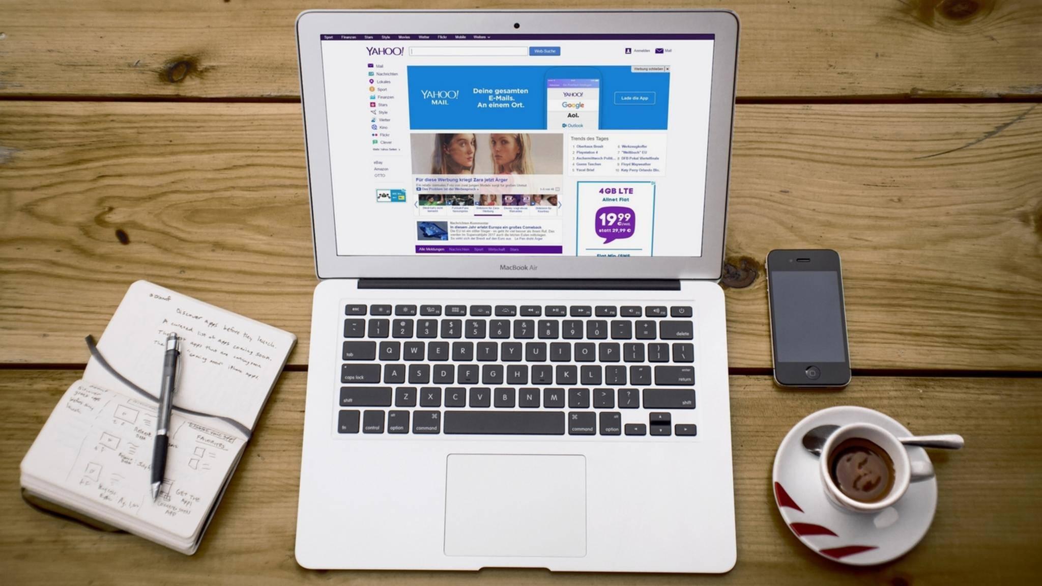 Auch bei Yahoo bekommst Du ein kostenloses Mail-Konto.