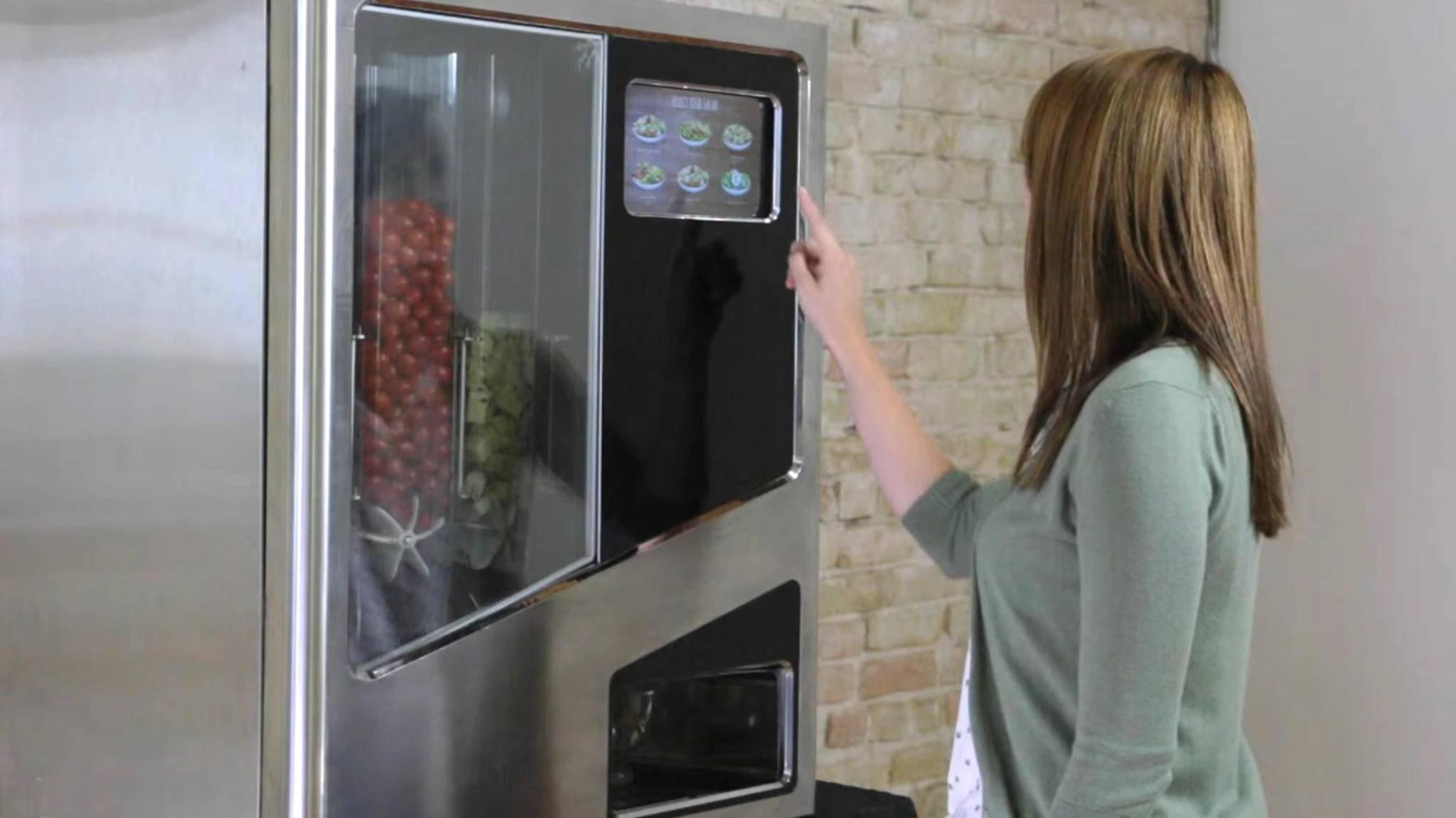 Salat-Roboter Sally hat schier unbegrenzte Salatvariationen im Angebot.