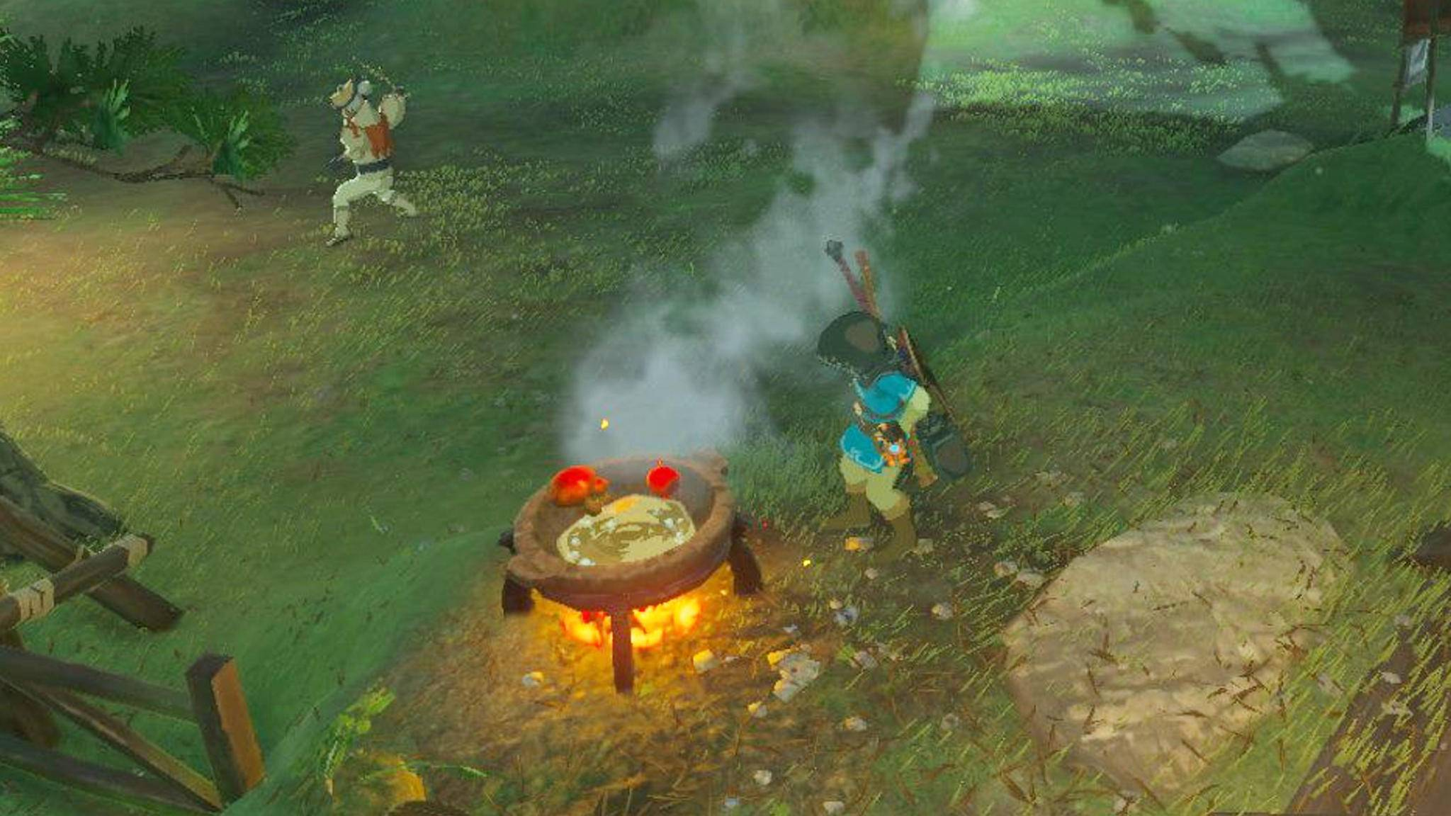 """Damit Link in """"The Legend of Zelda: Breath of the Wild"""" in der Wildnis überlebt, sollte er ein paar gute Kochrezepte auf Lager haben."""