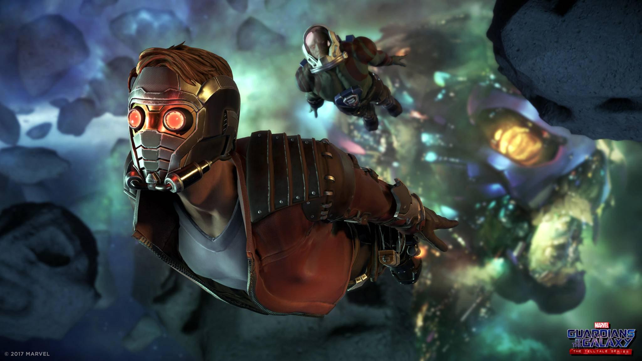 Star-Lord fliegt mit den Guardians durchs All ...