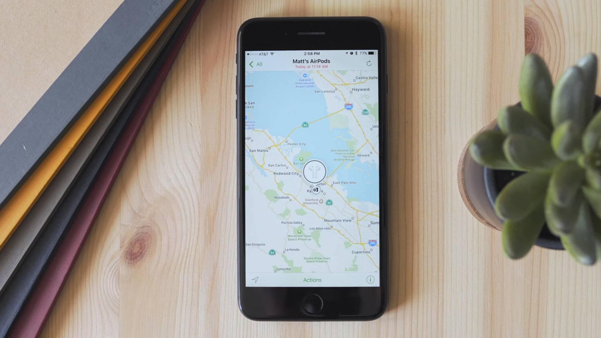 In iOS 10.3 lässt sich nach verlorenen AirPods suchen.