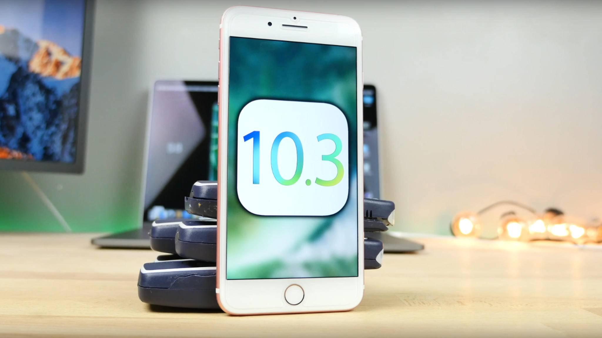 Mit iOS 10.3 wird auch das neue Dateisystem APFS eingeführt.