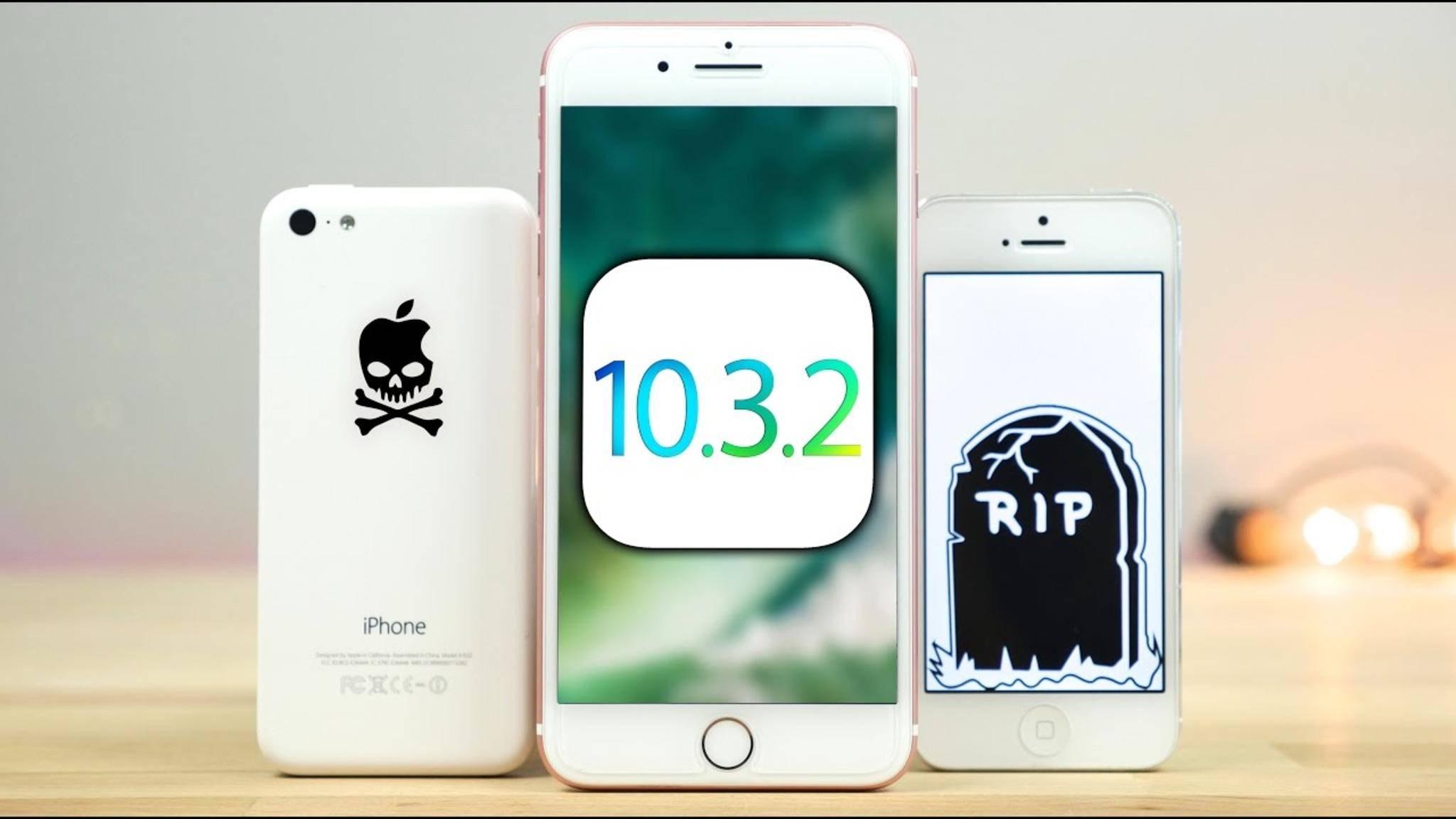Mit iOS 10.3.2 endet wohl der Support für iPhone 5 und 5c.
