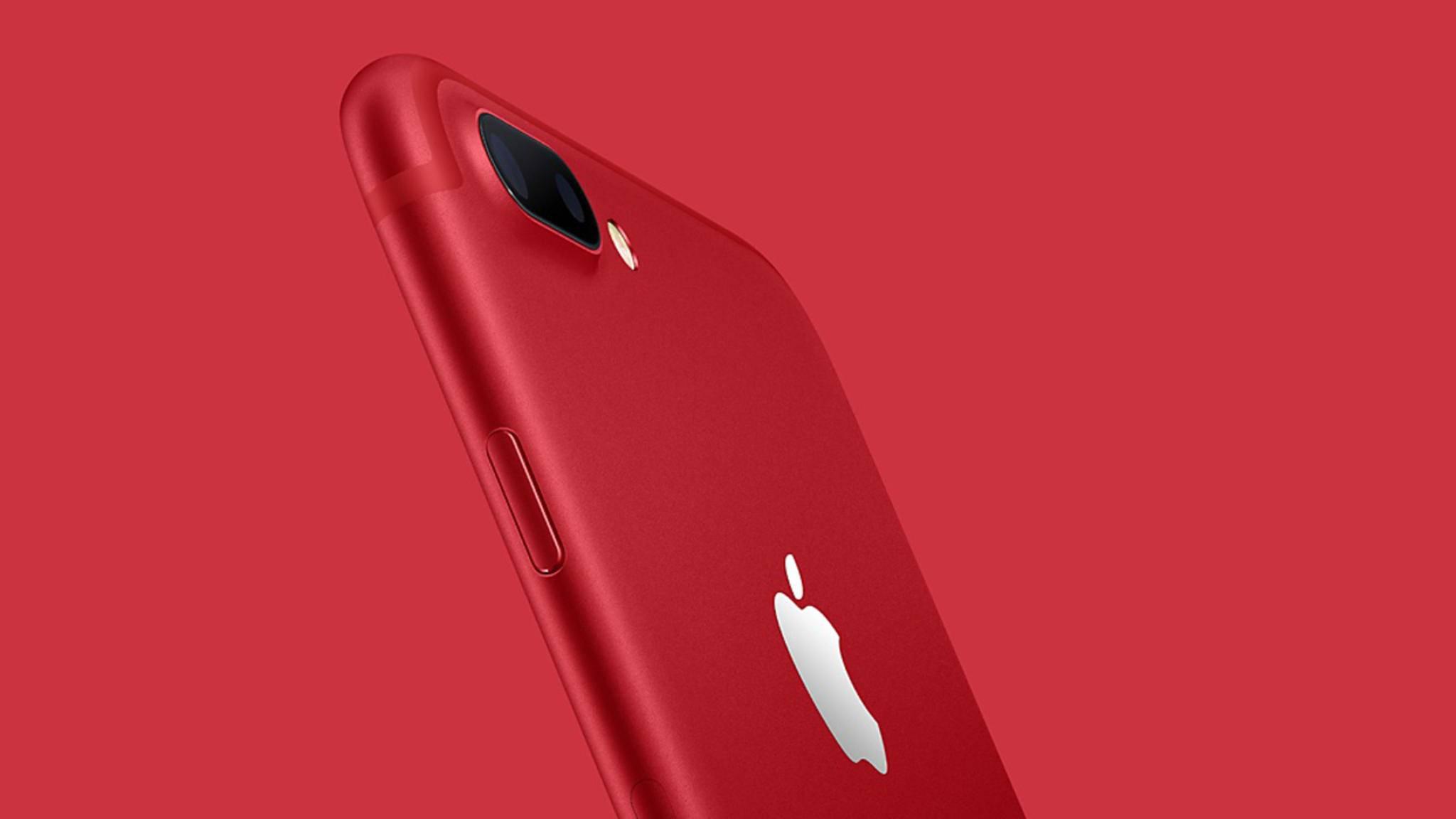 Das iPhone 7 gibt es jetzt auch in Rot.