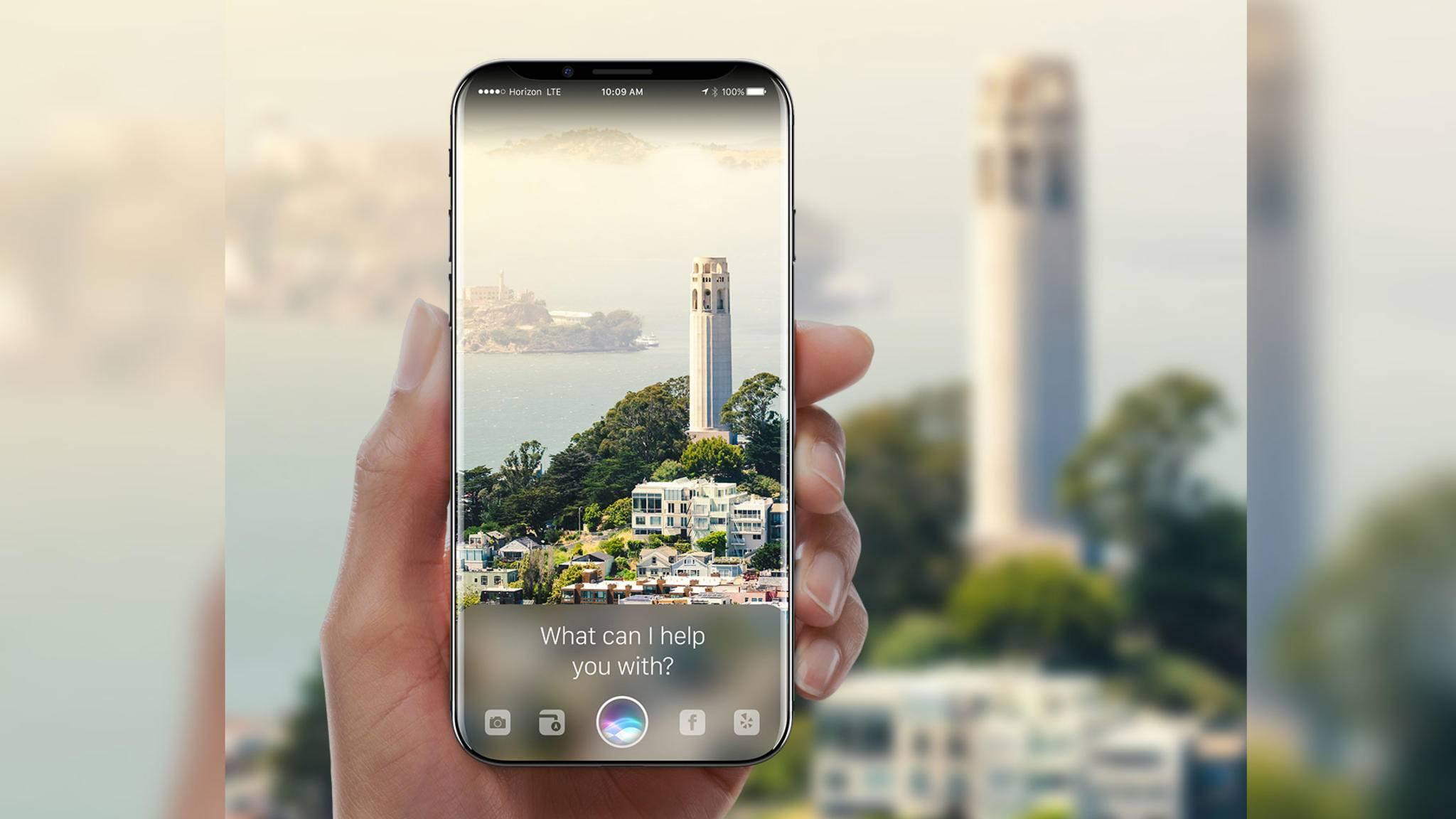 Das Display des iPhone 8 soll ebenfalls leicht gekrümmt sein, aber nicht so stark wie beim Galaxy S8.
