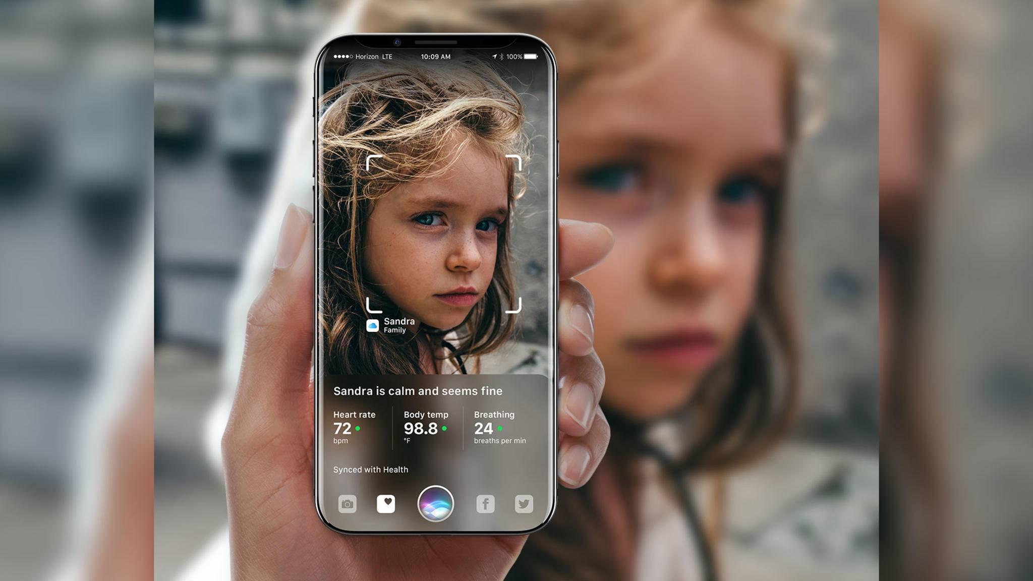 Neben Touch ID soll das iPhone 8 die Gesichtserkennung zum Entsperren mitbringen.