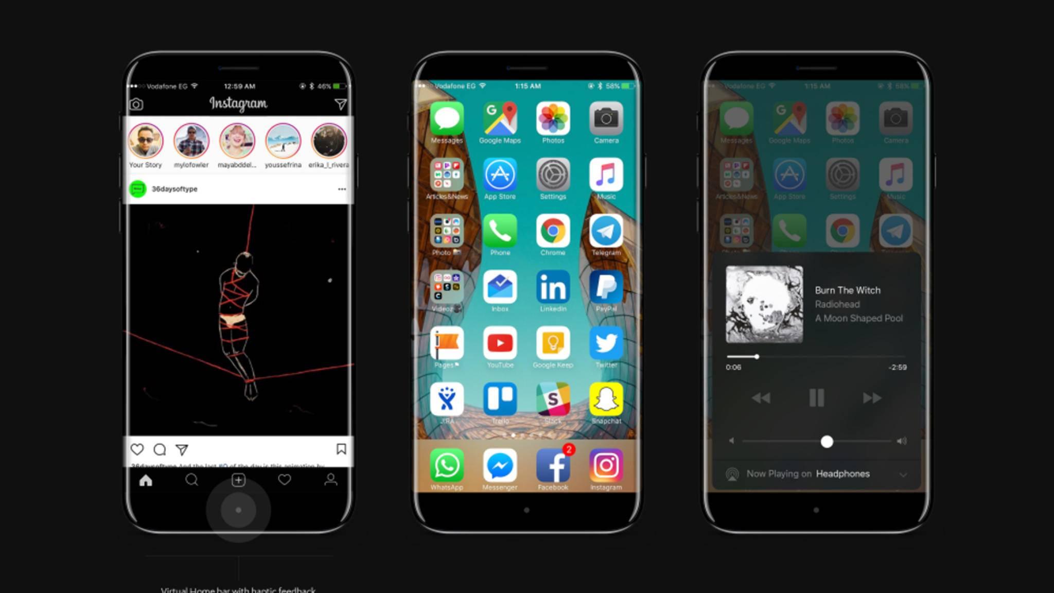 """Das iPhone 8 könnte mit dem Namen """"iPhone Edition"""" auf den Markt kommen."""