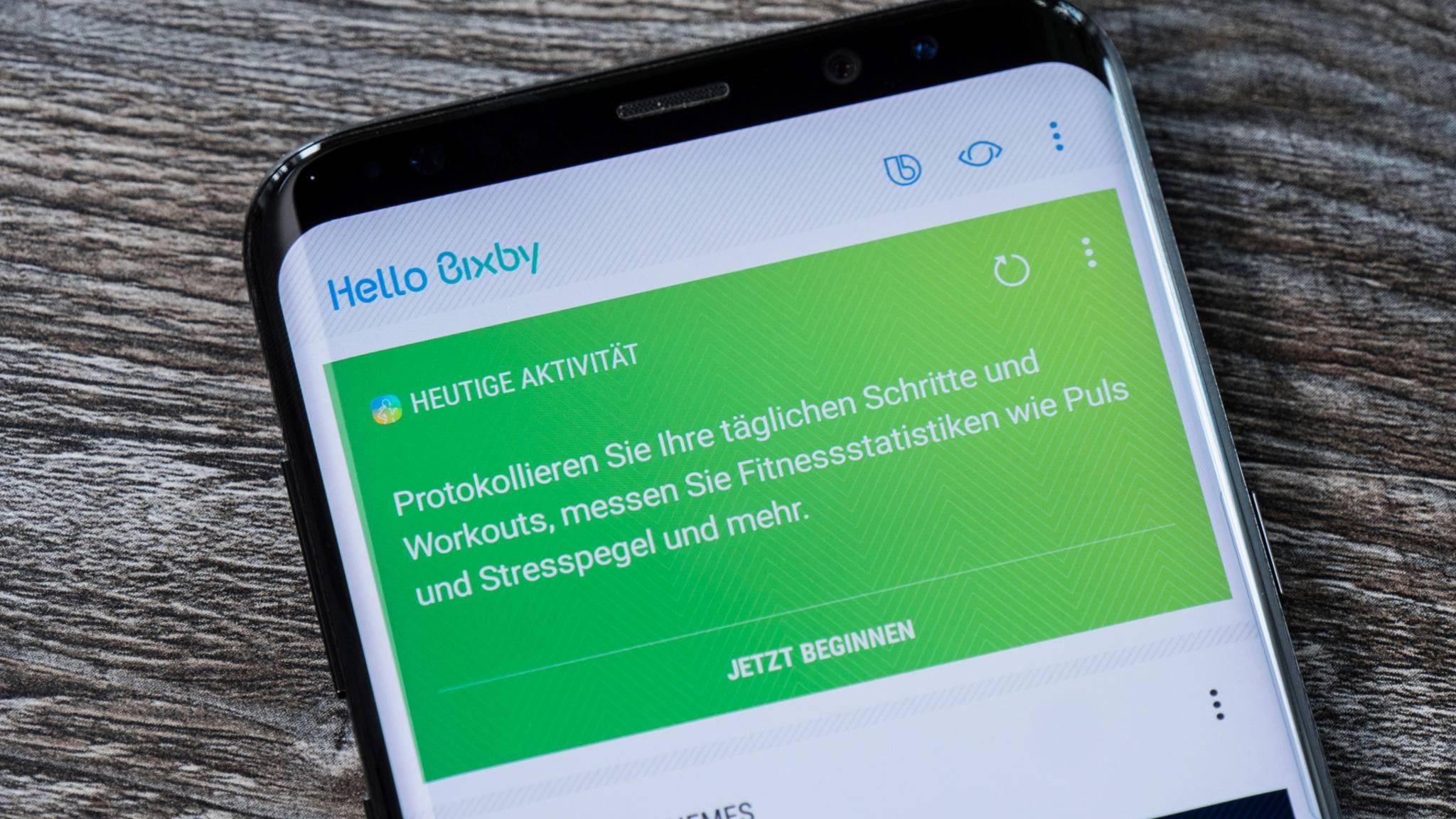 Bixby kann noch nicht Deutsch sprechen.