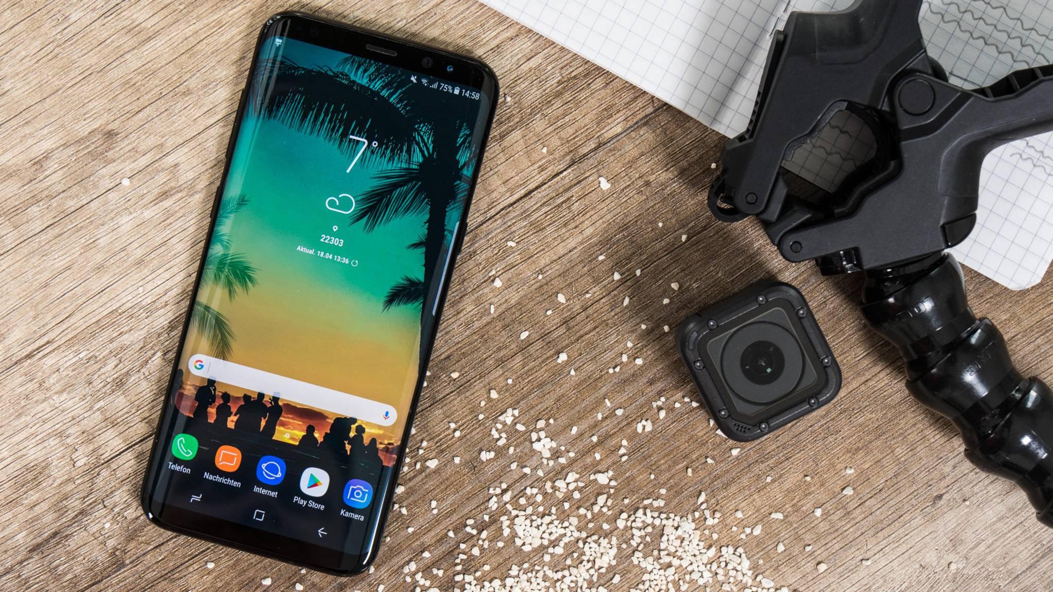 Das Galaxy S8 ist mit vorinstallierter McAfee-Schutzsoftware ausgestattet.