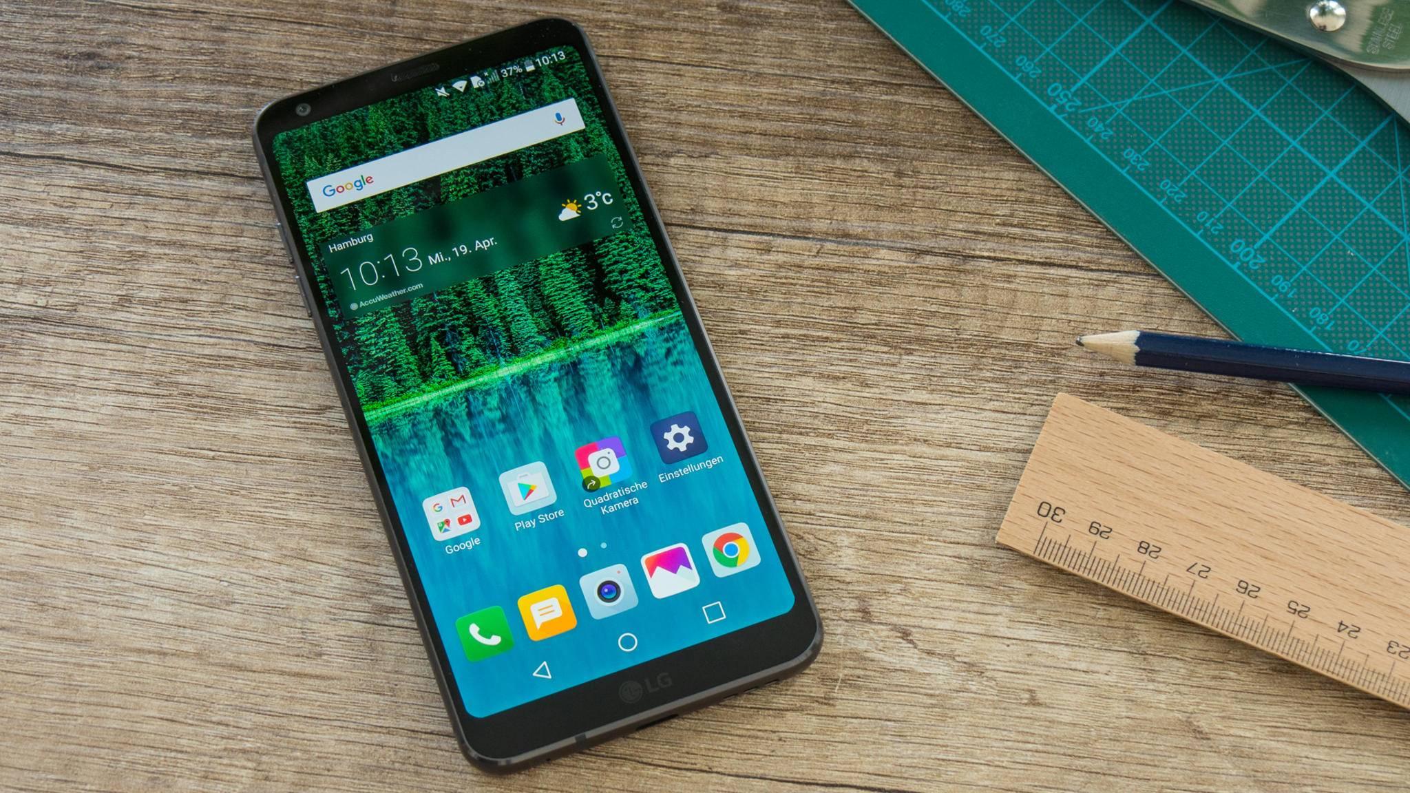 Das LG G6 verfügt über ein 18:9-Display.
