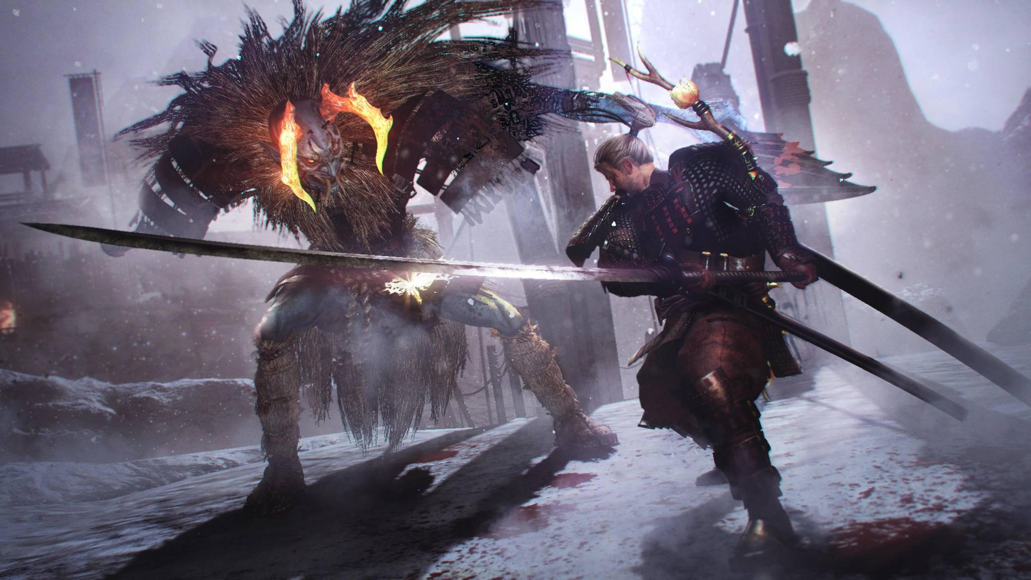 """Im """"Nioh""""-DLC """"Drache des Nordens"""" kämpfst Du mit neuen Waffen gegen neue Gegner."""