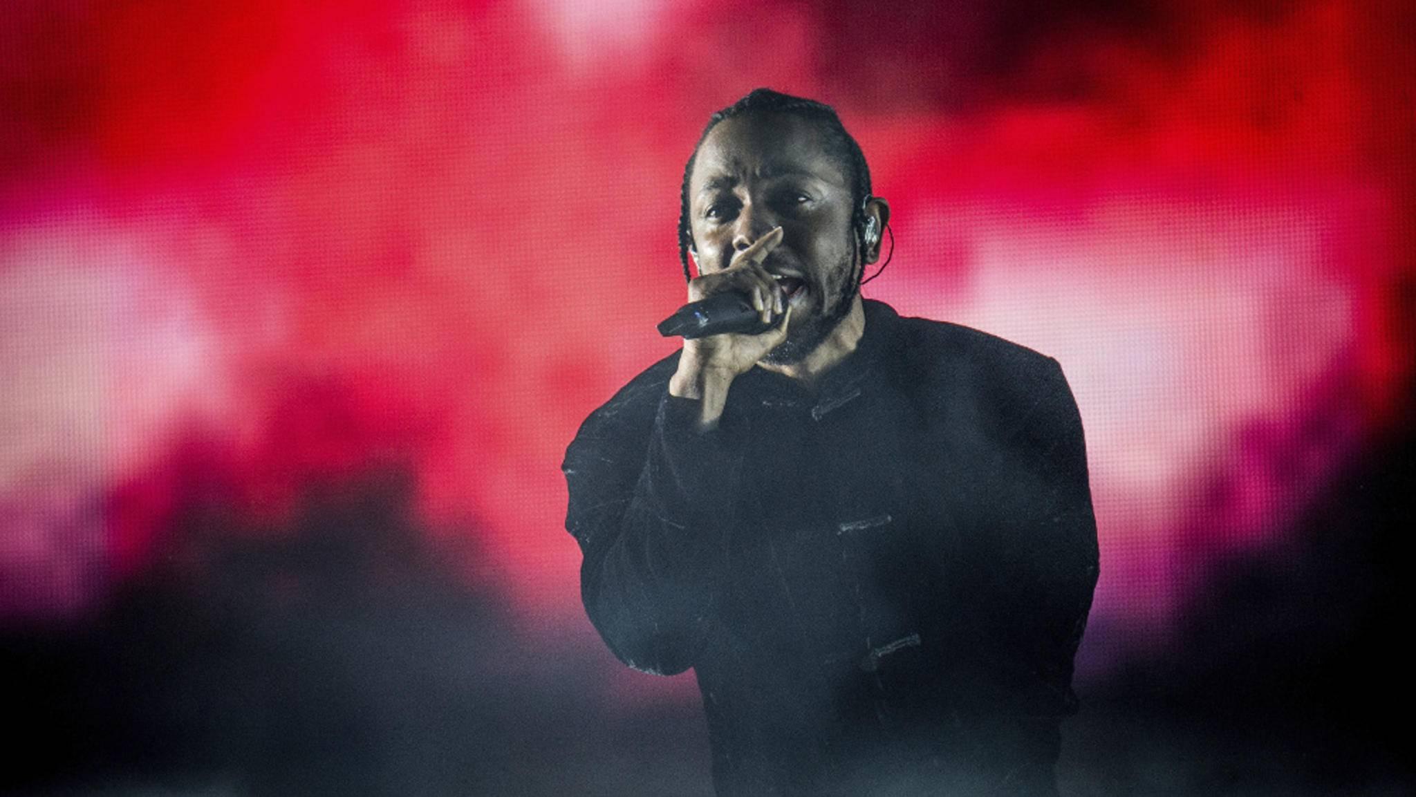 """Kendrick Lamar spielte Songs von seinem neuen Album """"Damn."""" beim Coachella-Festival am Wochenende erstmals live."""
