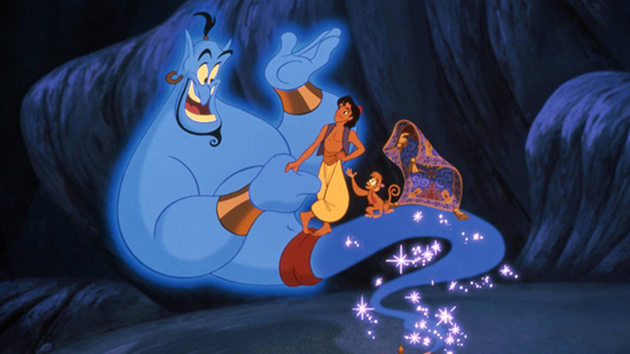 """Der Startschuss ist gefallen: Will Smith und Co. erwecken die Zeichentrickfiguren aus """"Aladdin"""" zum Leben."""