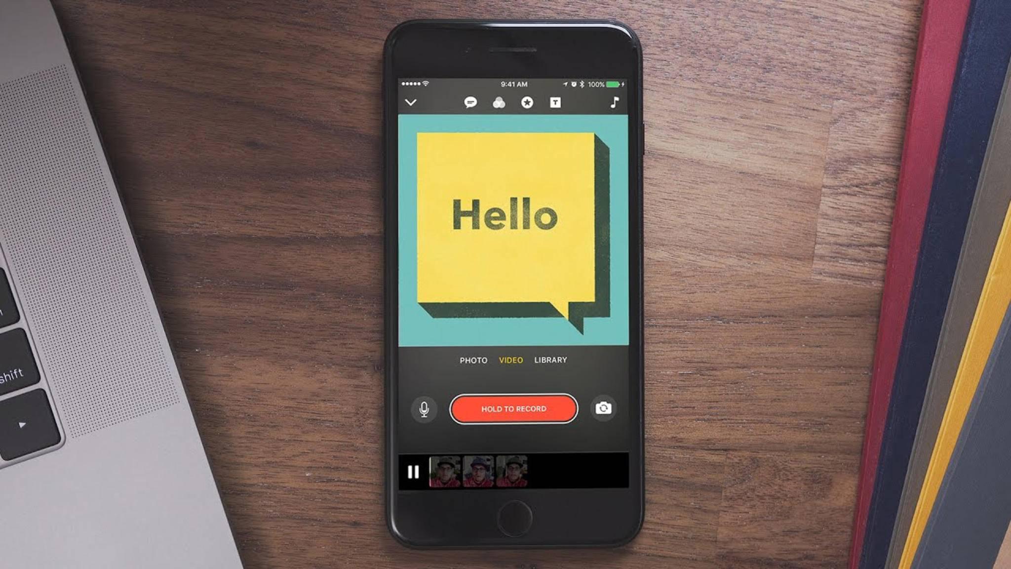 Witzige Videos im Handumdrehen, auch für Einsteiger: Apple Clips kann kostenlos im App Store heruntergeladen werden.