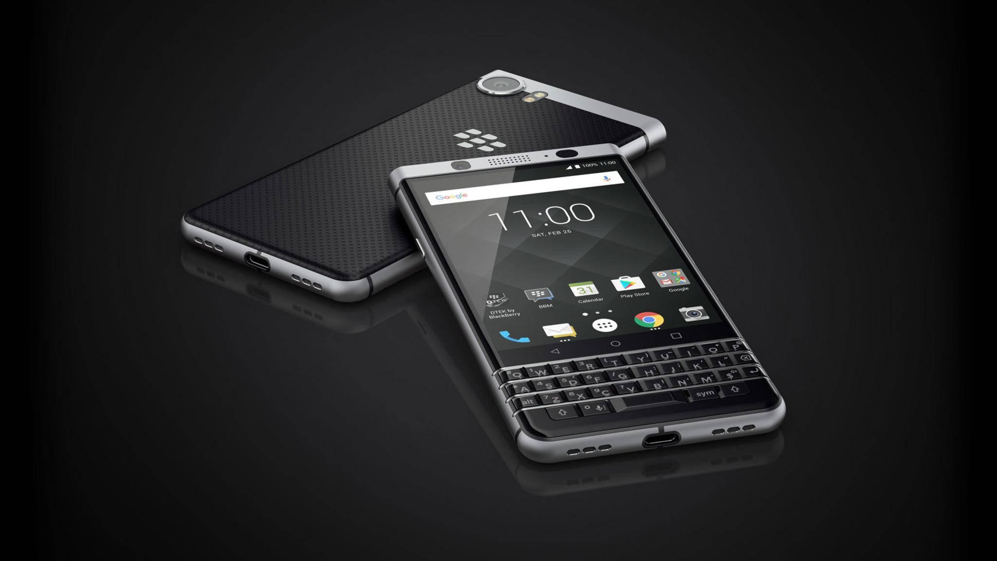 Die QWERTZ-Tastatur, hier beim BlackBerry KEYone, ist heute eher die Ausnahme.