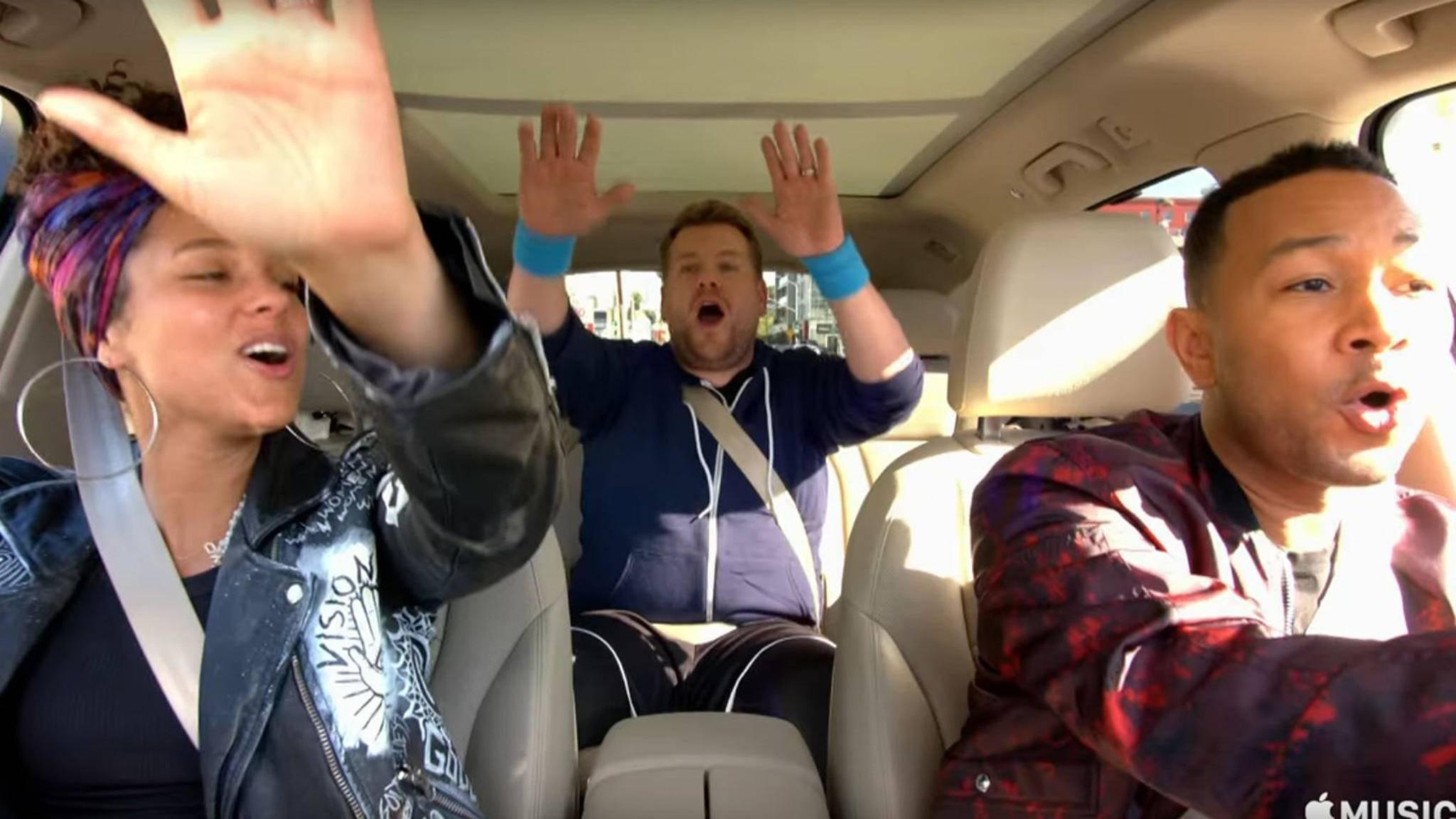 """""""Carpool Karaoke"""" zählt mit zu den ersten Eigenproduktionen, mit denen Apple Music auf dem TV-Markt mitmischen möchte."""
