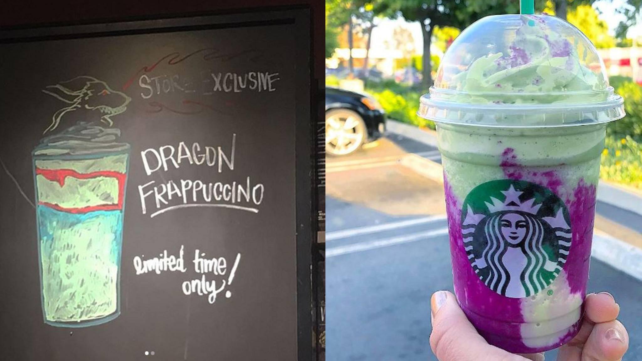 Schafft es der Drachen-Frappuccino vielleicht sogar ins offizielle Starbucks-Menü?