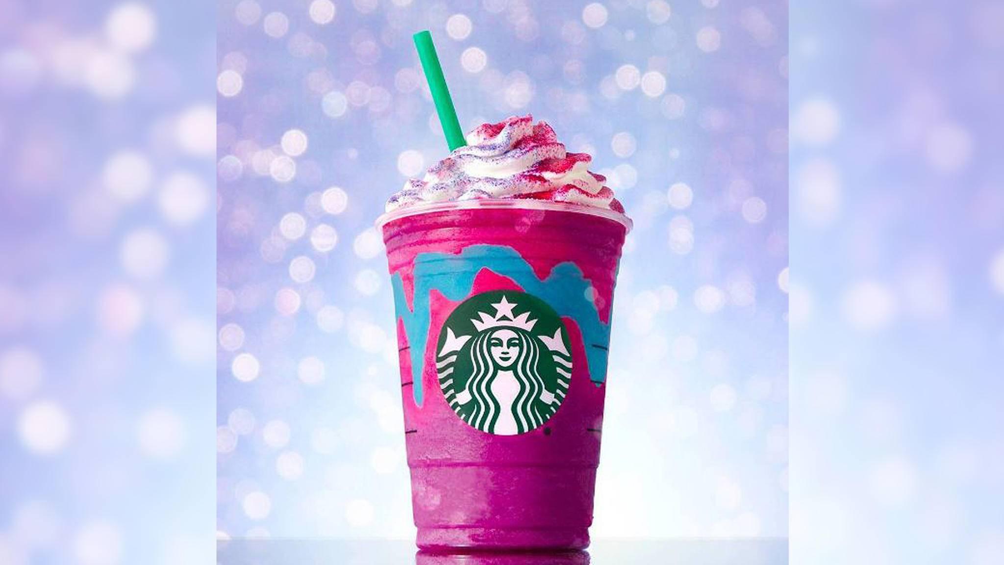 Der Einhorn-Frappuccino sorgt derzeit für Begeisterung bei den Kunden von Starbucks.