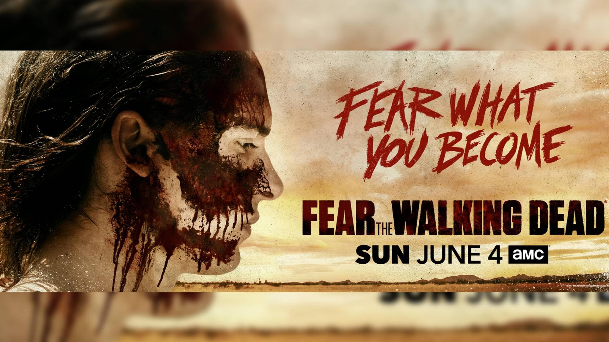 """Das offizielle """"Fear the Walking Dead""""-Poster sorgt bei Fans für Sorgenfalten auf der Stirn."""