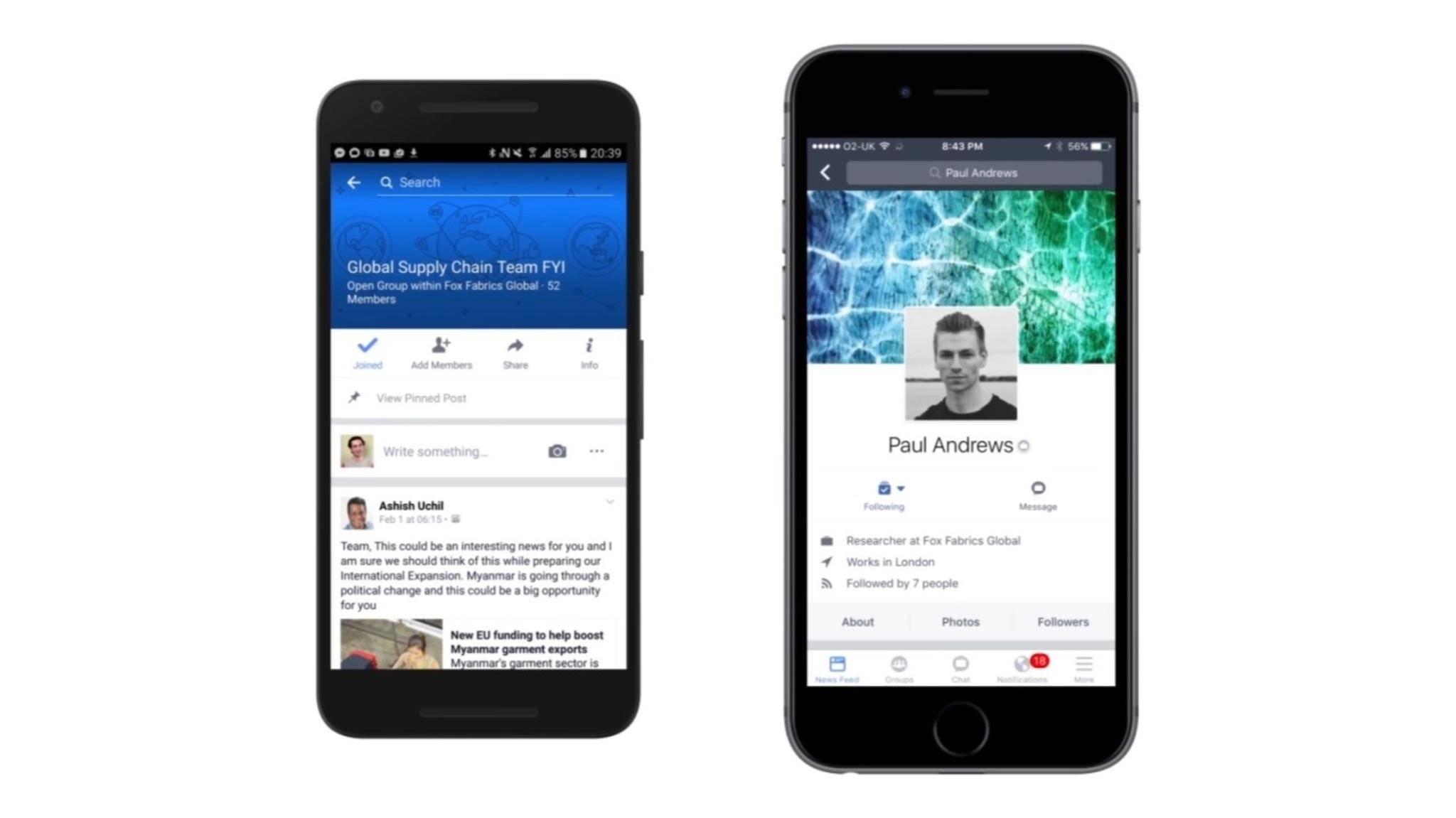 Facebook Workplace möchte Slack Konkurrenz machen.