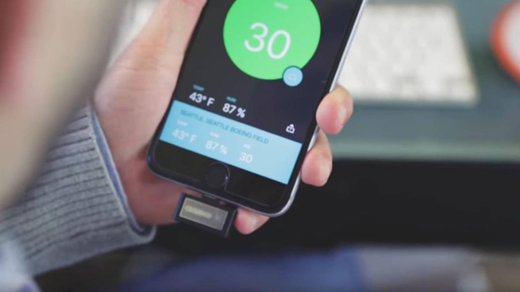 Mit dem Sprimo Air Monitor sollst Du jederzeit und überall entspannt durchatmen können.