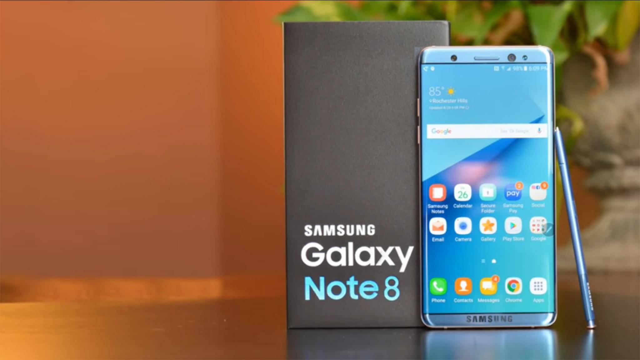 Auch das Galaxy Note 8 soll ein Infinity-Display à la Galaxy S8 bekommen.