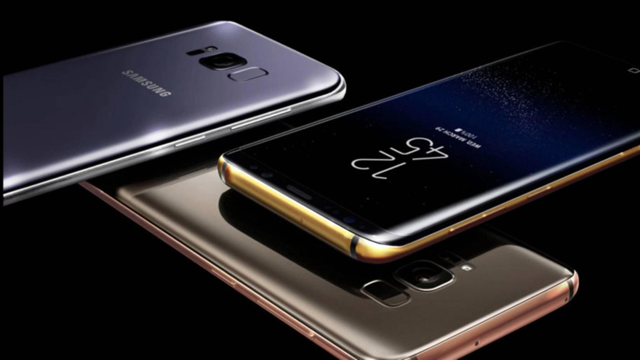 Darf's ein bisschen mehr sein? Das Galaxy S8 mit Gold- und Platin-Rahmen: Ab 2250 Pfund geht's los.