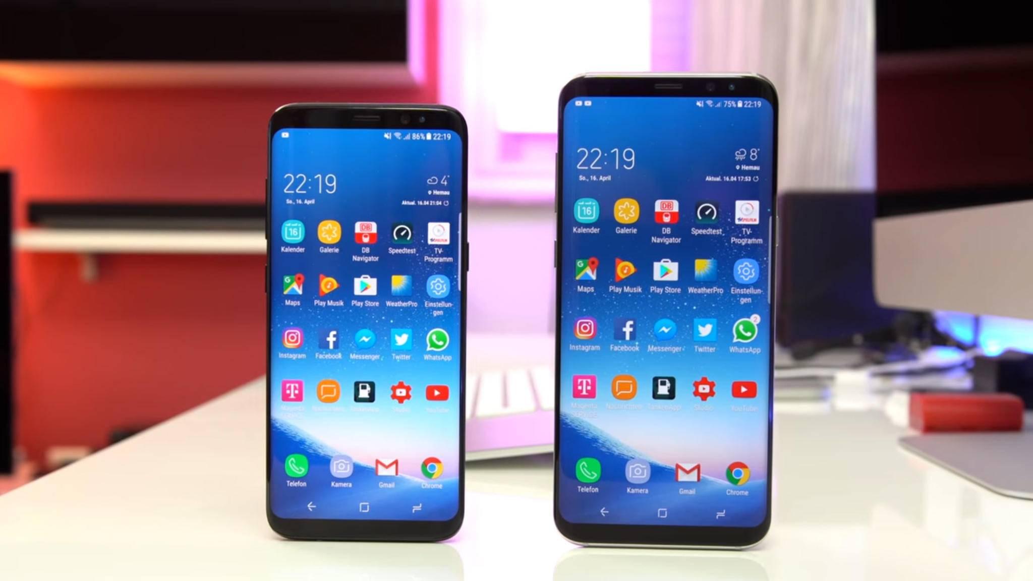 Die aktuellen Galaxy-Smartphones punkten ebenso mit schmalen Displayrändern.
