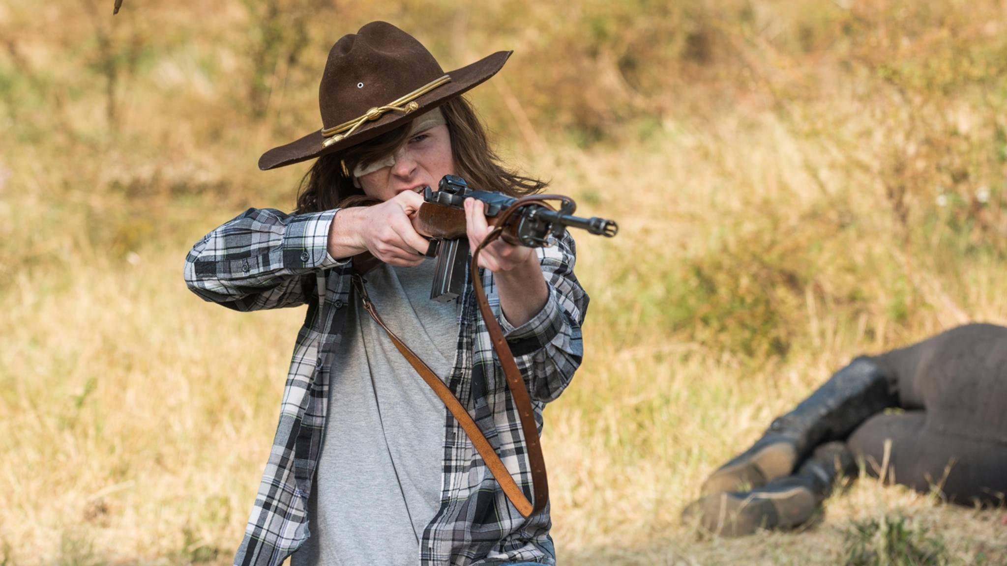 """Wie geht es mit Carl in Staffel 8 von """"The Walking Dead"""" wohl weiter?"""
