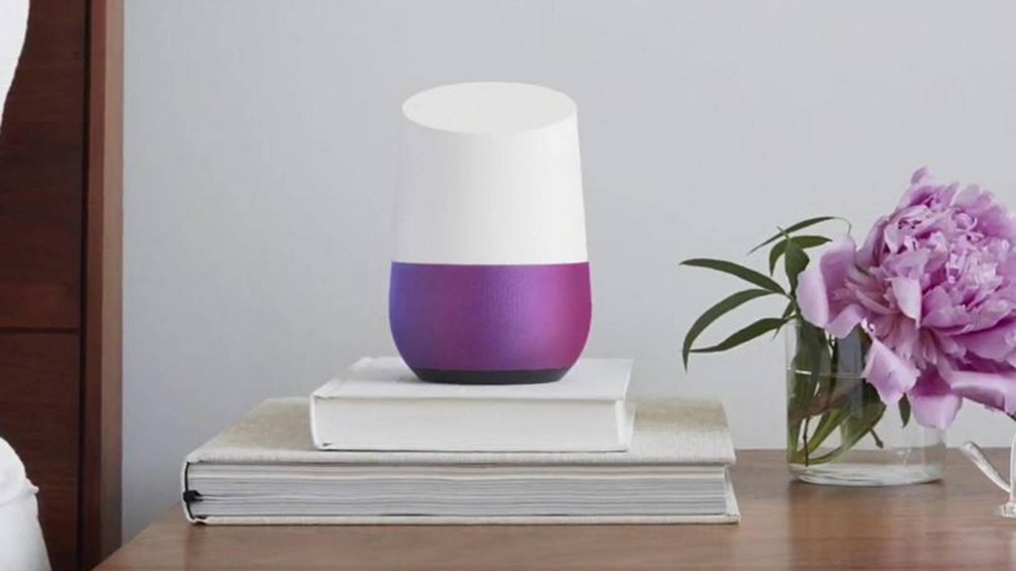 Google Home kann bald zwischen bis zu sechs Personen unterscheiden.