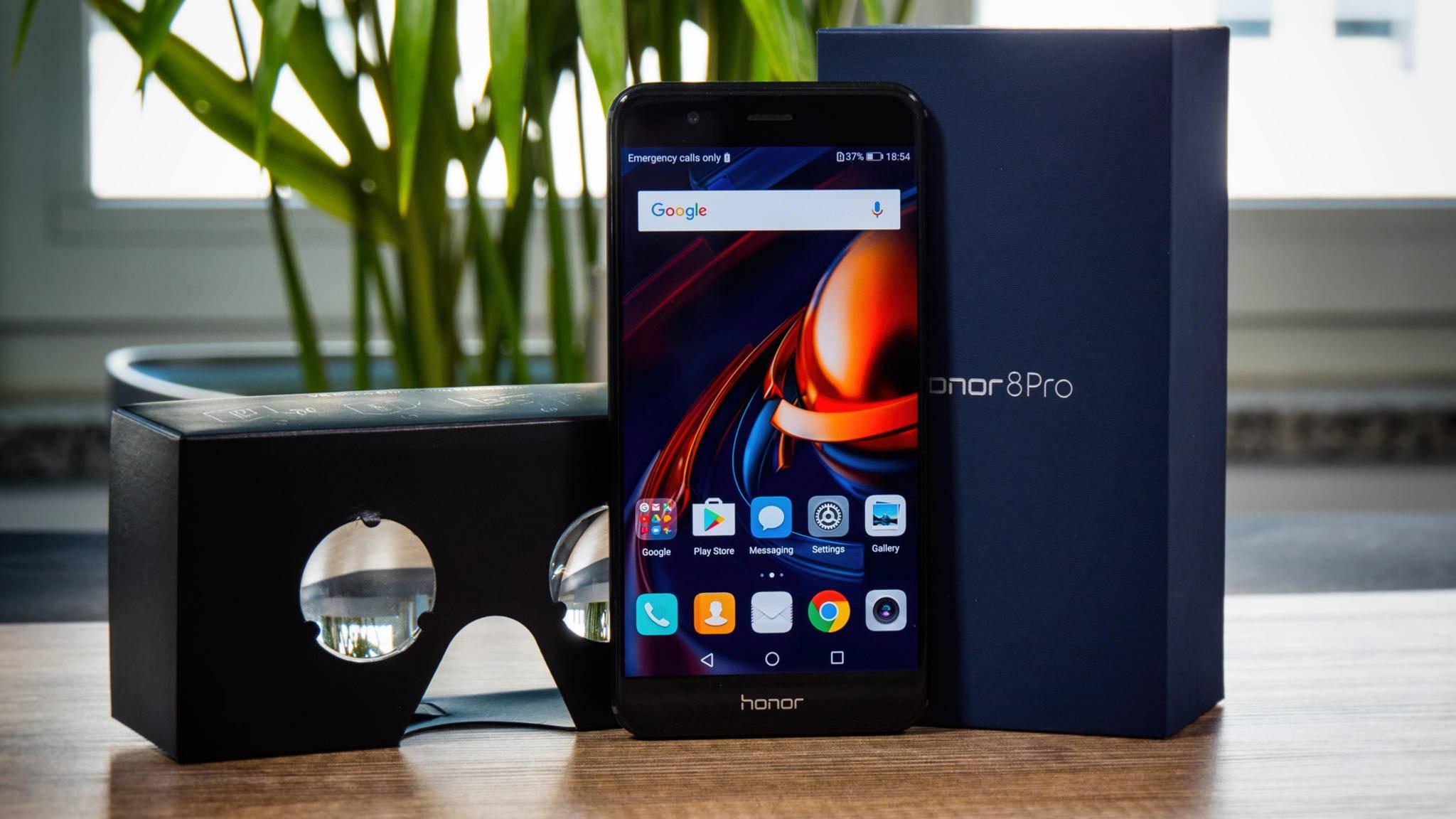 Das Honor 8 Pro tritt gegen iPhone, Galaxy und Co. an.