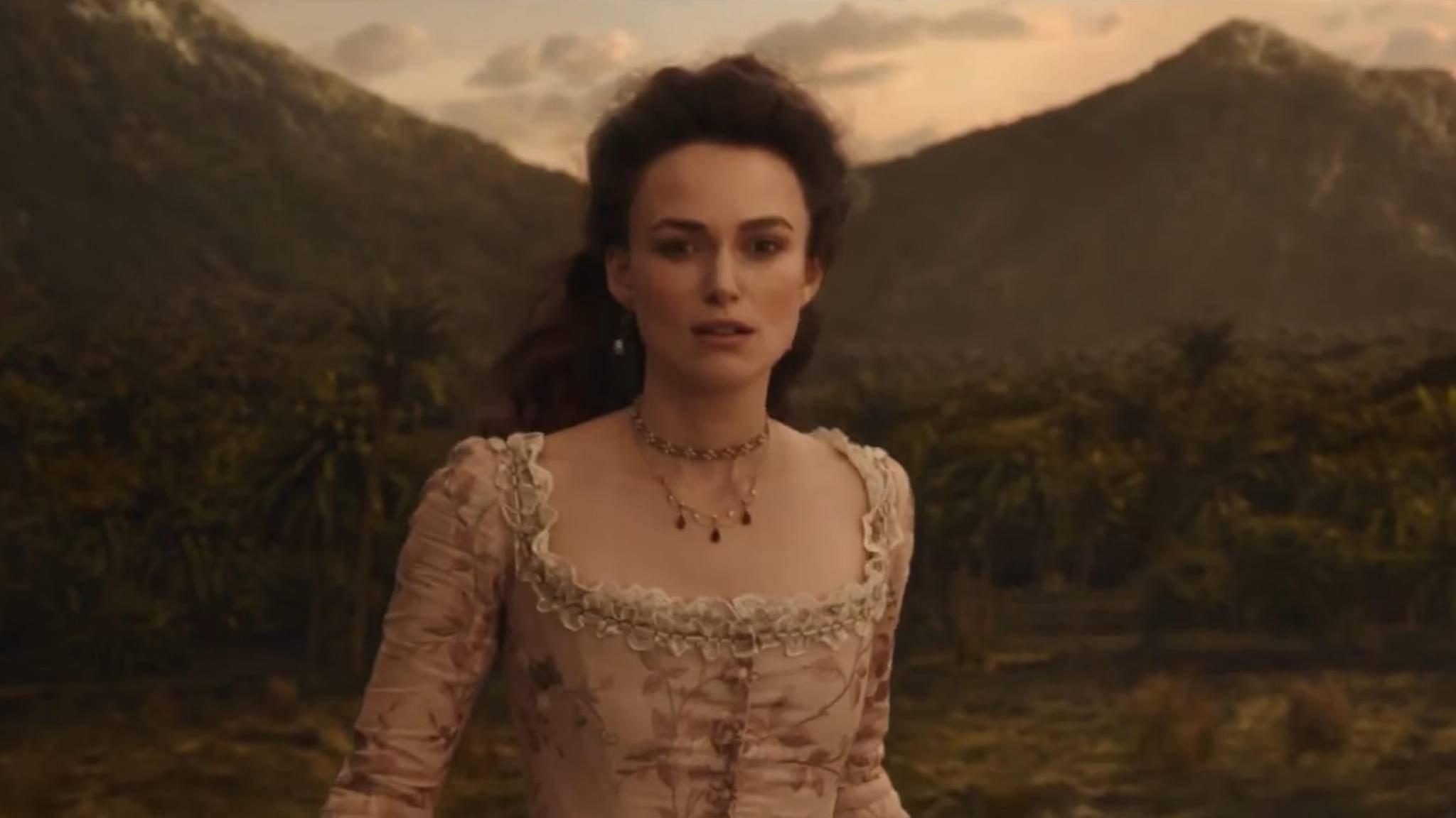 """Ein neuer Trailer liefert einen ersten Blick auf Keira Knightley als Elizabeth Swan in """"Fluch der Karibik 5""""."""
