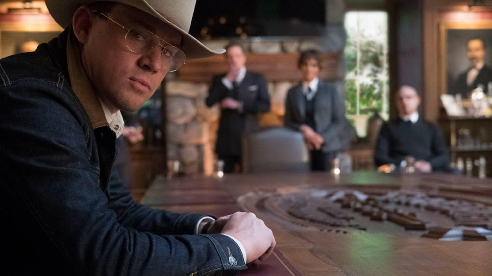 """Patriotisch gab sich Channing Tatum auch in """"Kingsman: The Golden Circle"""". Statt als Captain America sahen ihn Kinogänger hier als Statesman-Mitglied."""