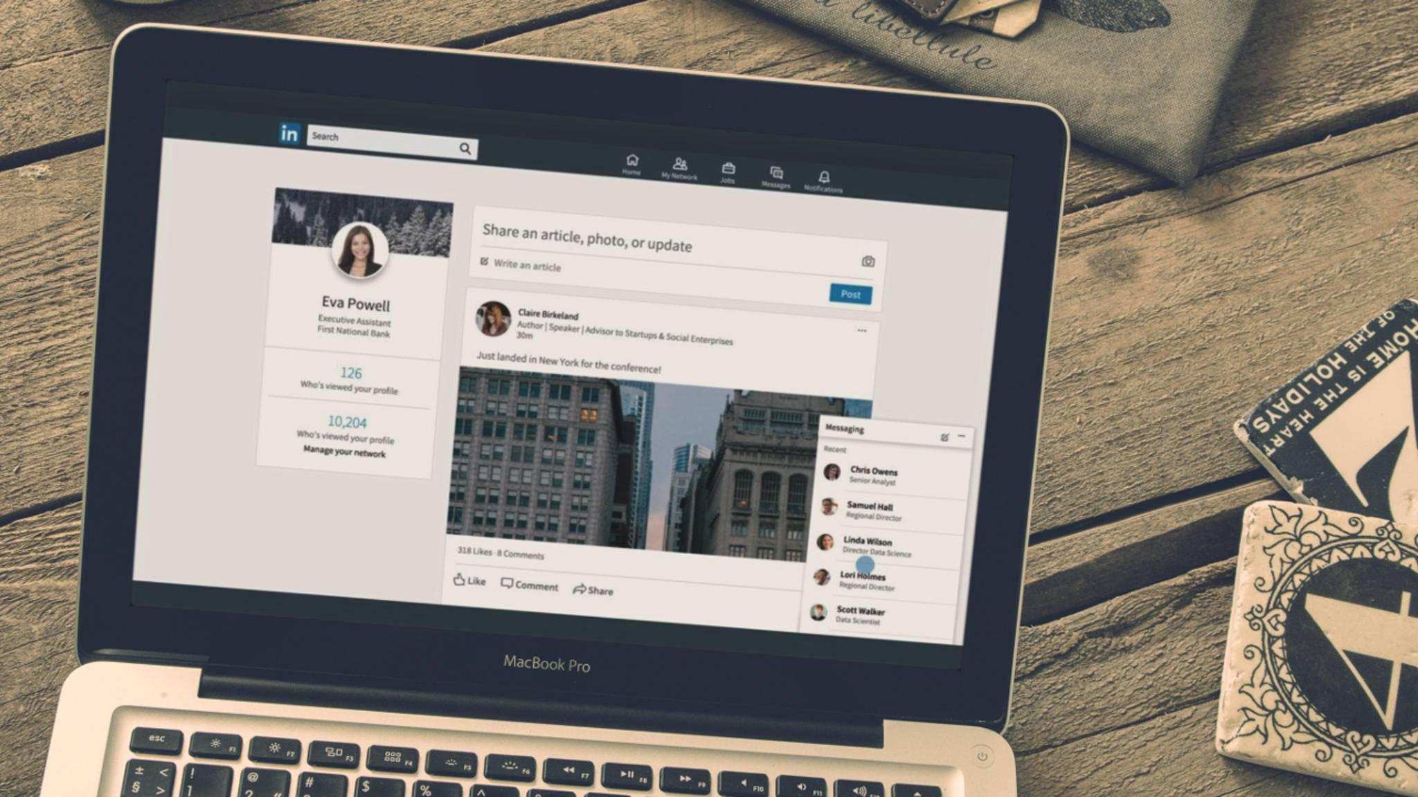 LinkedIn hat inzwischen mehr Nutzer als Twitter und Snapchat zusammen.