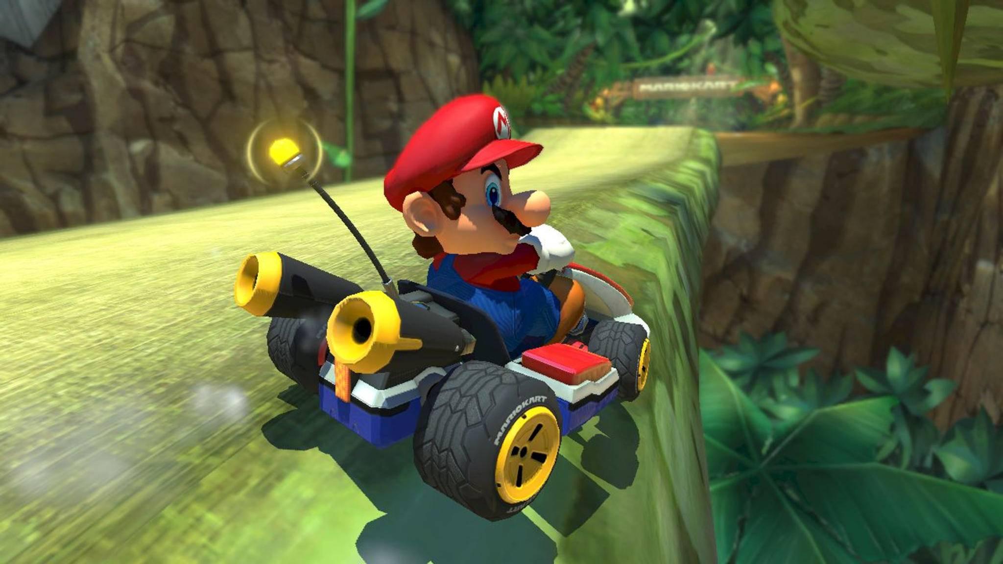 """In """"Mario Kart Wii"""" sollte Mario ursprünglich offenbar auch in einem Missions-Modus über die Strecken heizen."""