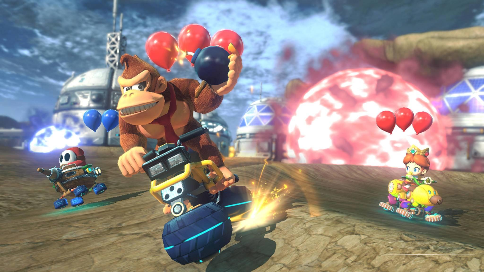 """Wie einst auf dem N64 ist """"Mario Kart"""" auch auf der Switch ein echter Spaß-Bringer."""