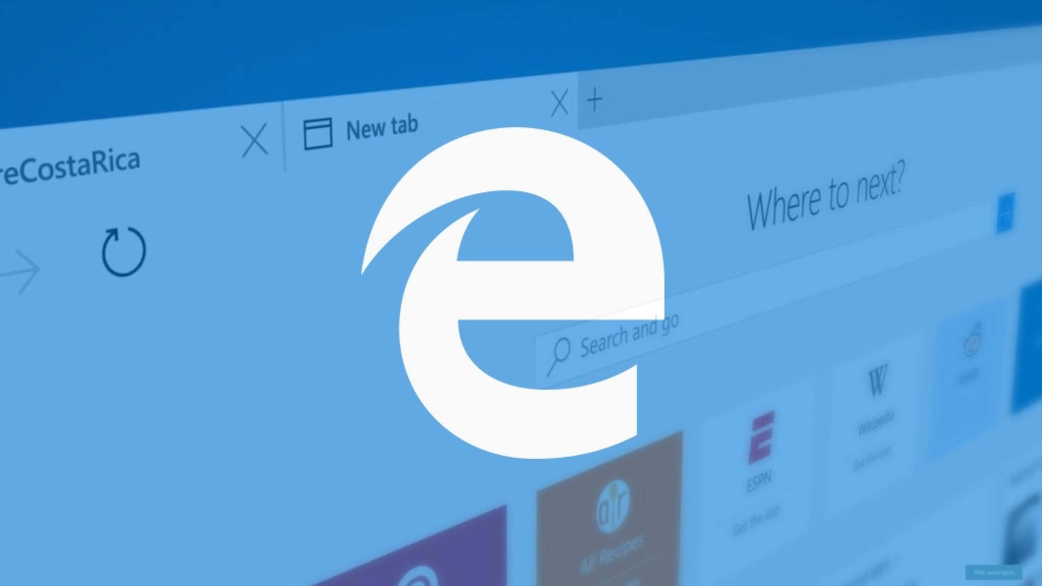 Der Edge-Browser taucht nun auch auf iOS- und Android-Tablets auf.