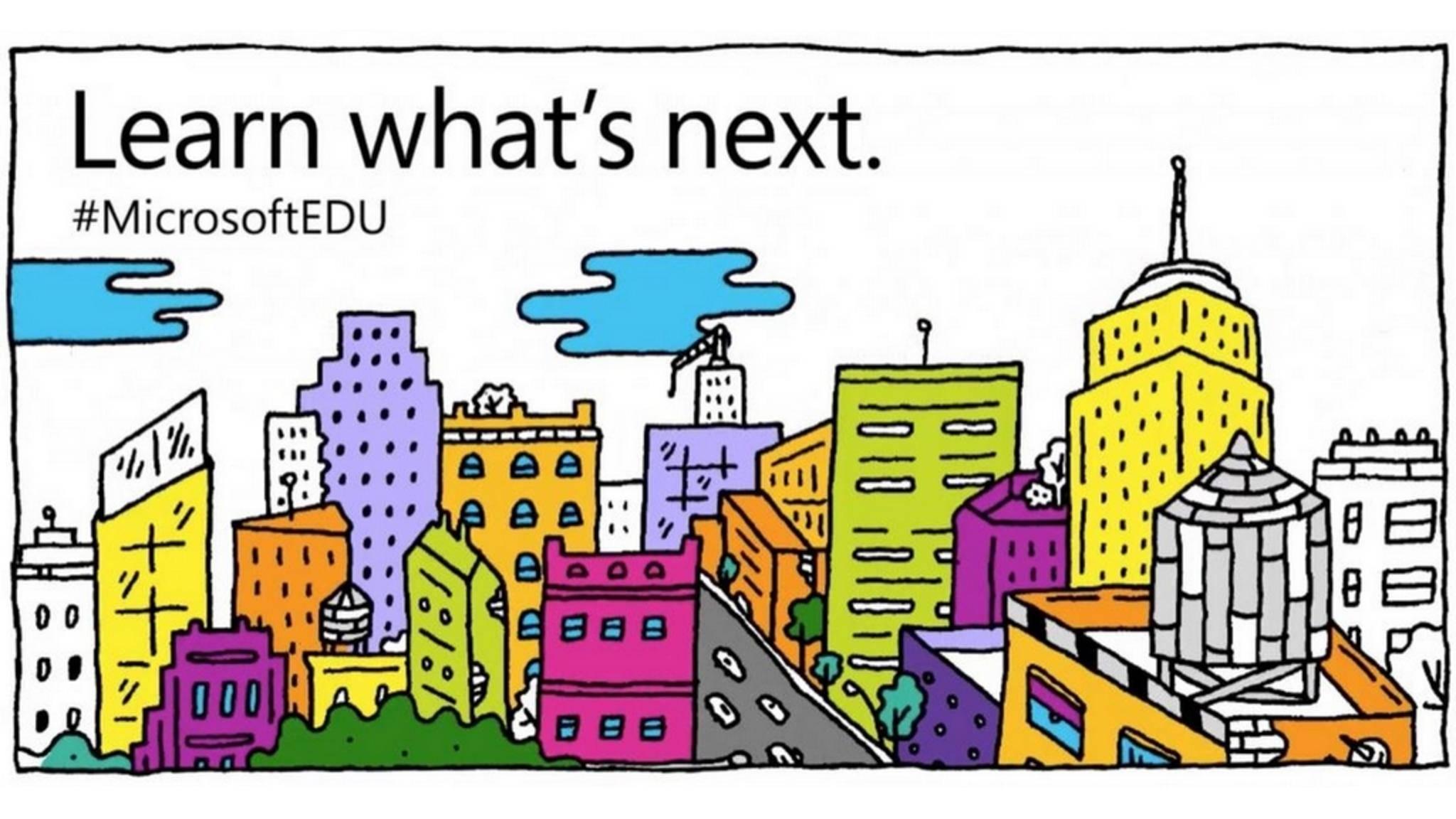 Der Bildungsbereich steht auf dem Microsoft-Event am 2. Mai im Fokus.