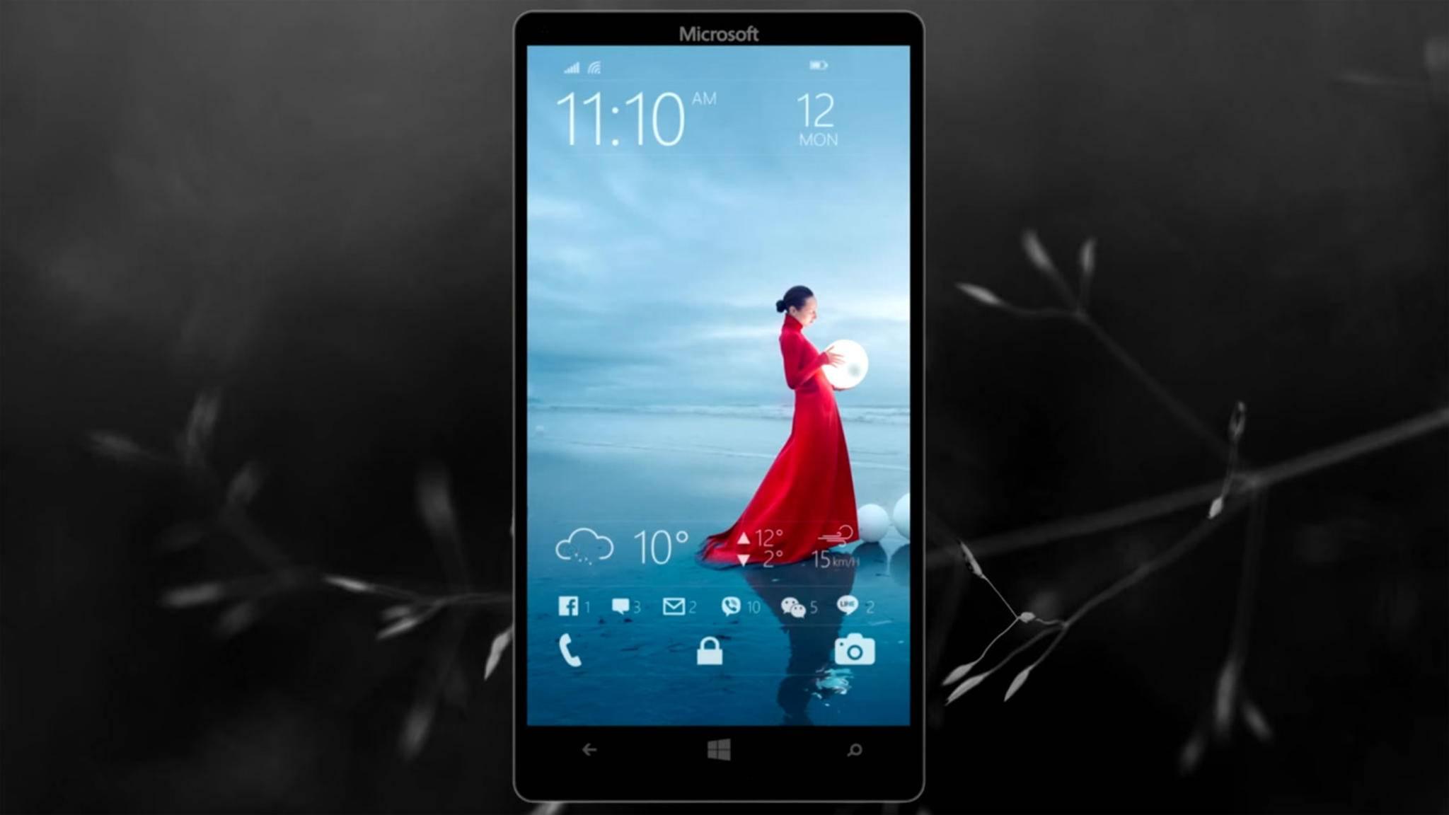 Warum nicht einmal anders: So oder so ähnlich könnte ein Microsoft-Smartphone mit Android aussehen.