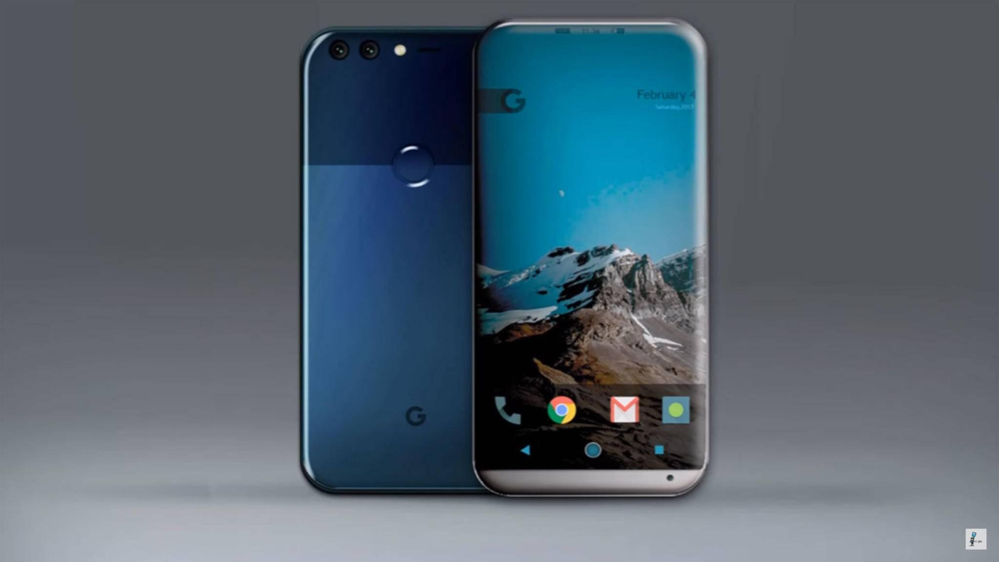 Das Google Pixel 2 dürfte im Gegensatz zum Pixel ein etwas moderneres Design besitzen.