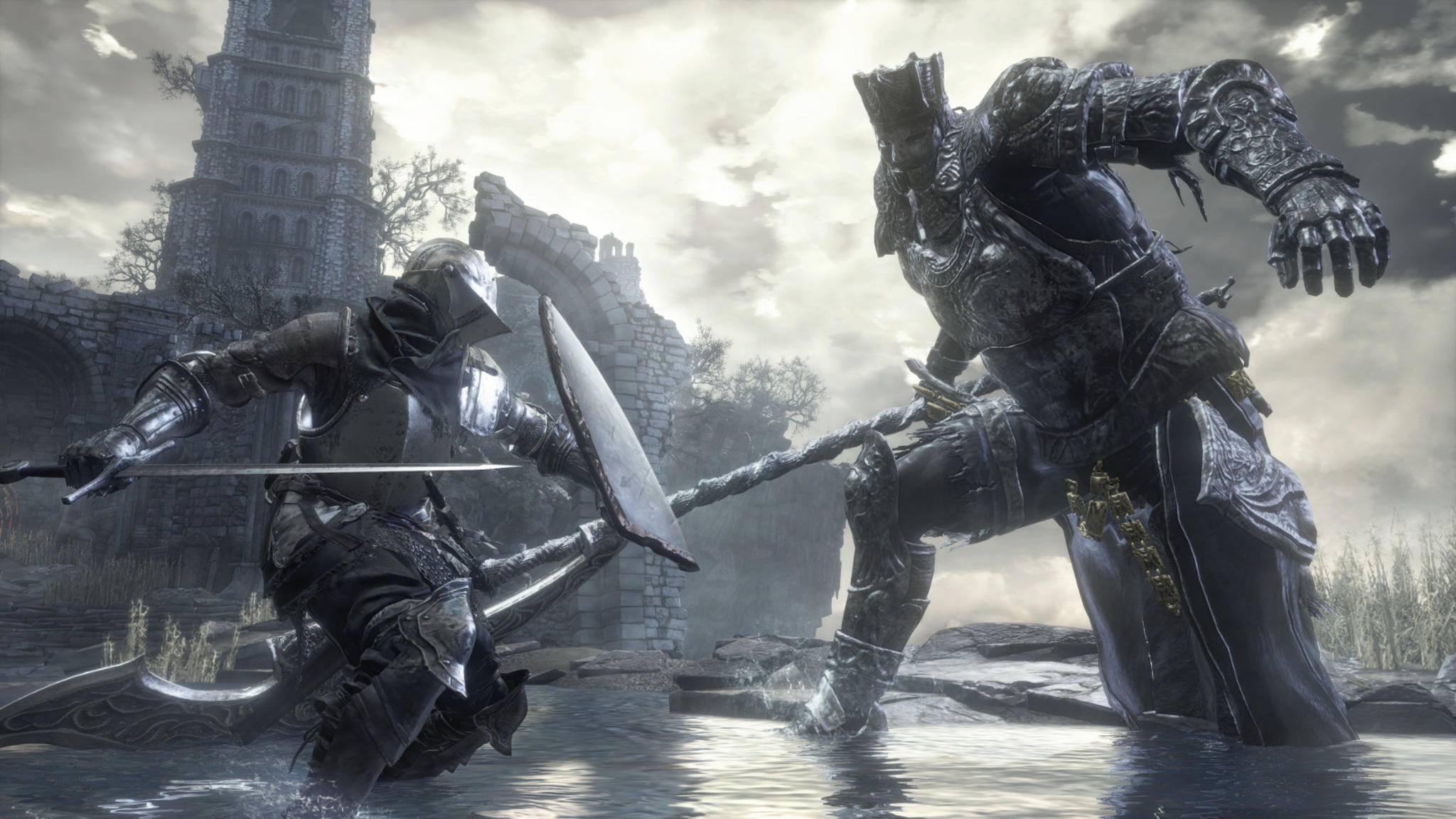 """Riesige Gegner, harte Kämpfe und keine Toleranz für Fehler? Dafür ist """"Dark Souls"""" berüchtigt und hat mit dieser Formel viele Entwickler zu Nachahmern inspiriert, die oft Soulslike-Spiele genannt werden."""