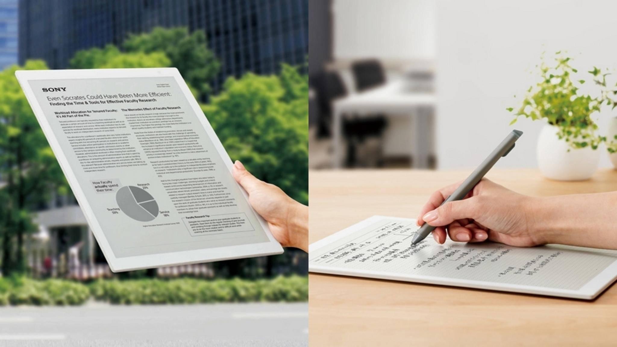 Das E-Ink-Tablet DPT-RP1 soll Papier überflüssig machen.