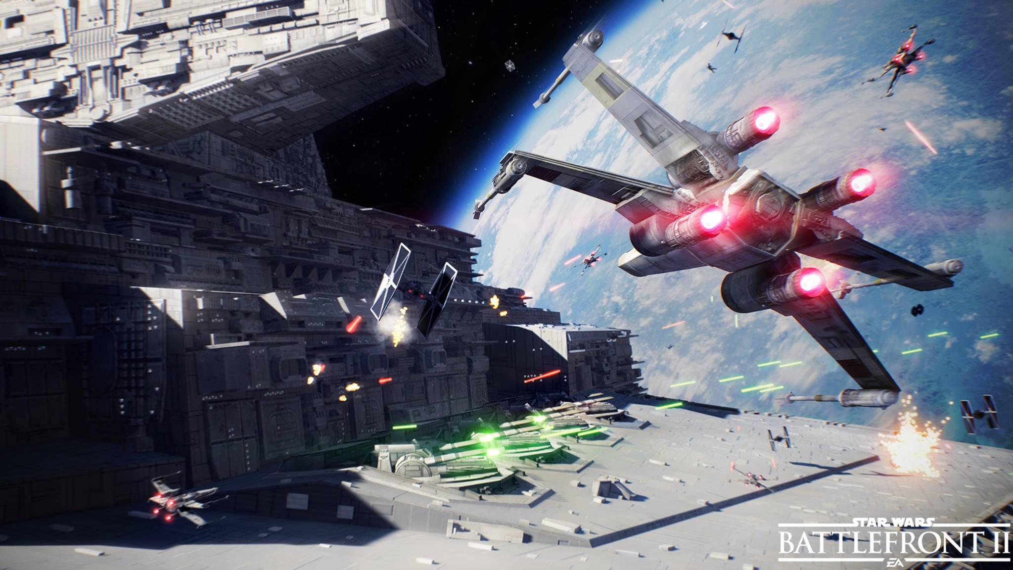"""In """"Star Wars: Battlefront 2"""" wird es auch Gefechte mit X-Wings geben."""