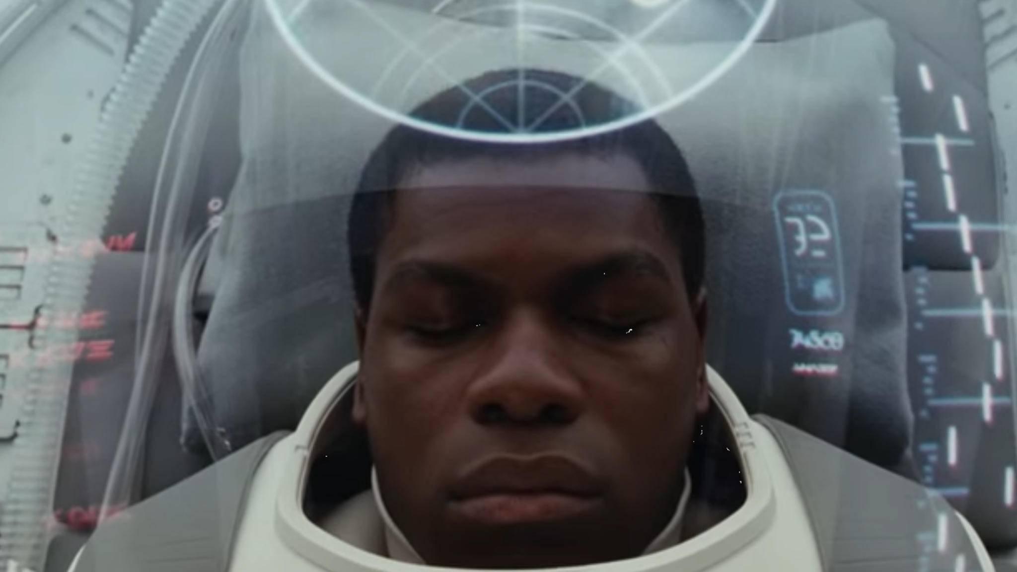 """Hoffentlich verschläft Finn """"Star Wars: The Last Jedi"""" nicht."""