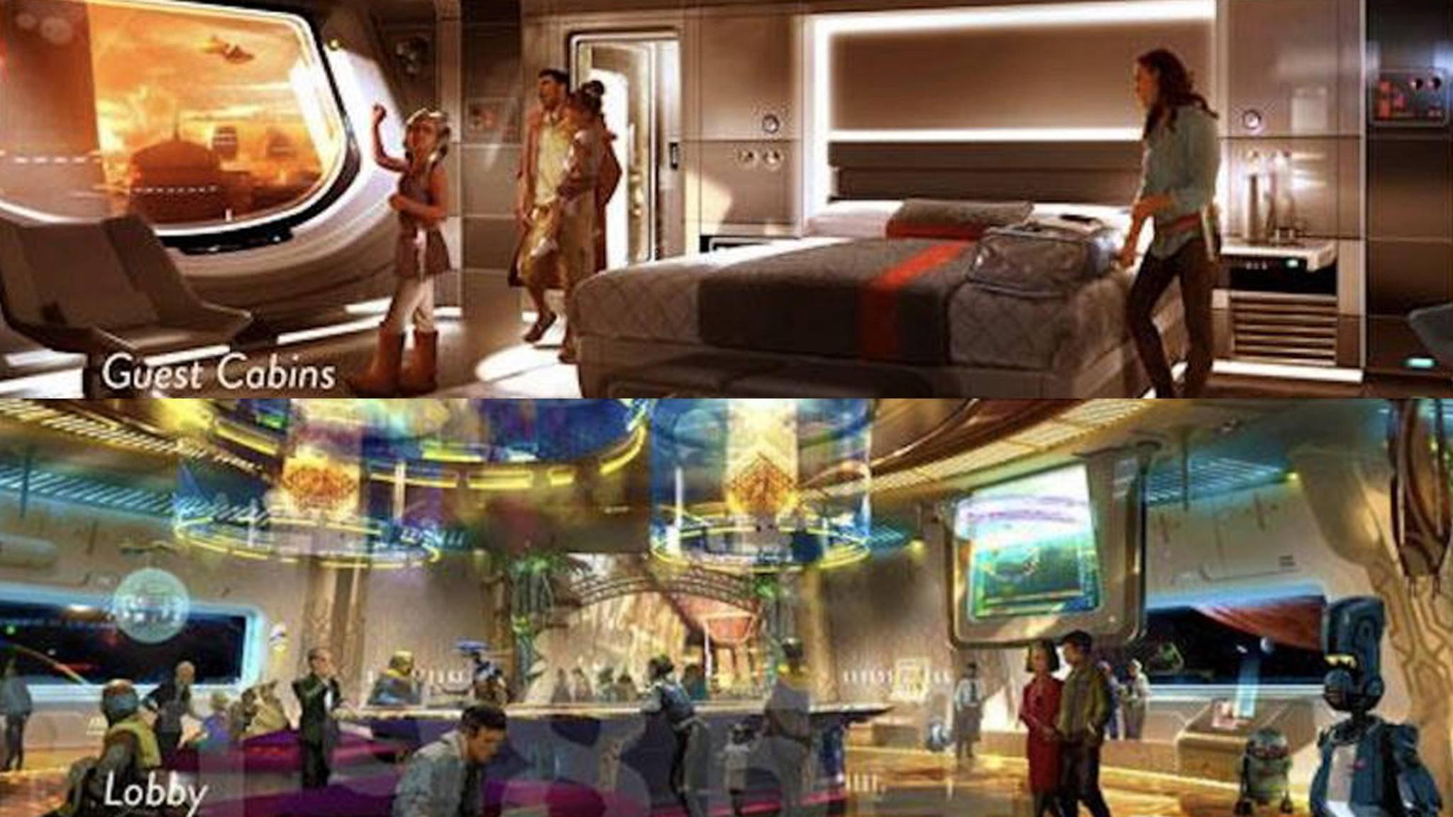 """In der Umfrage enthaltene Concept Art zum möglichen """"Star Wars""""-Hotel lässt Fan-Herzen höher schlagen."""