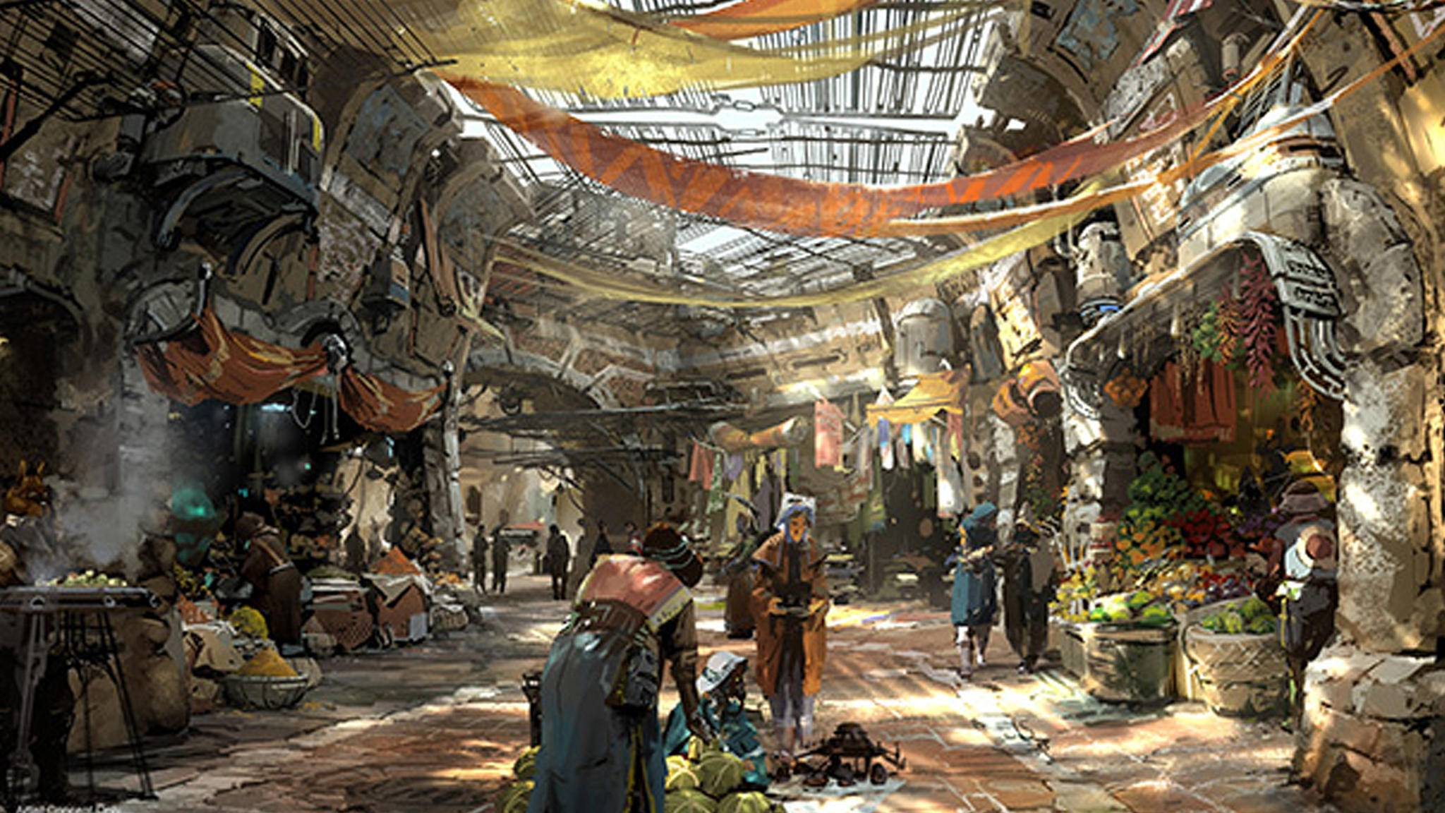 """Die Besucher des neuen """"Star Wars Land"""" müssen sich wohl vor allerlei intergalaktischen Hallunken in acht nehmen."""